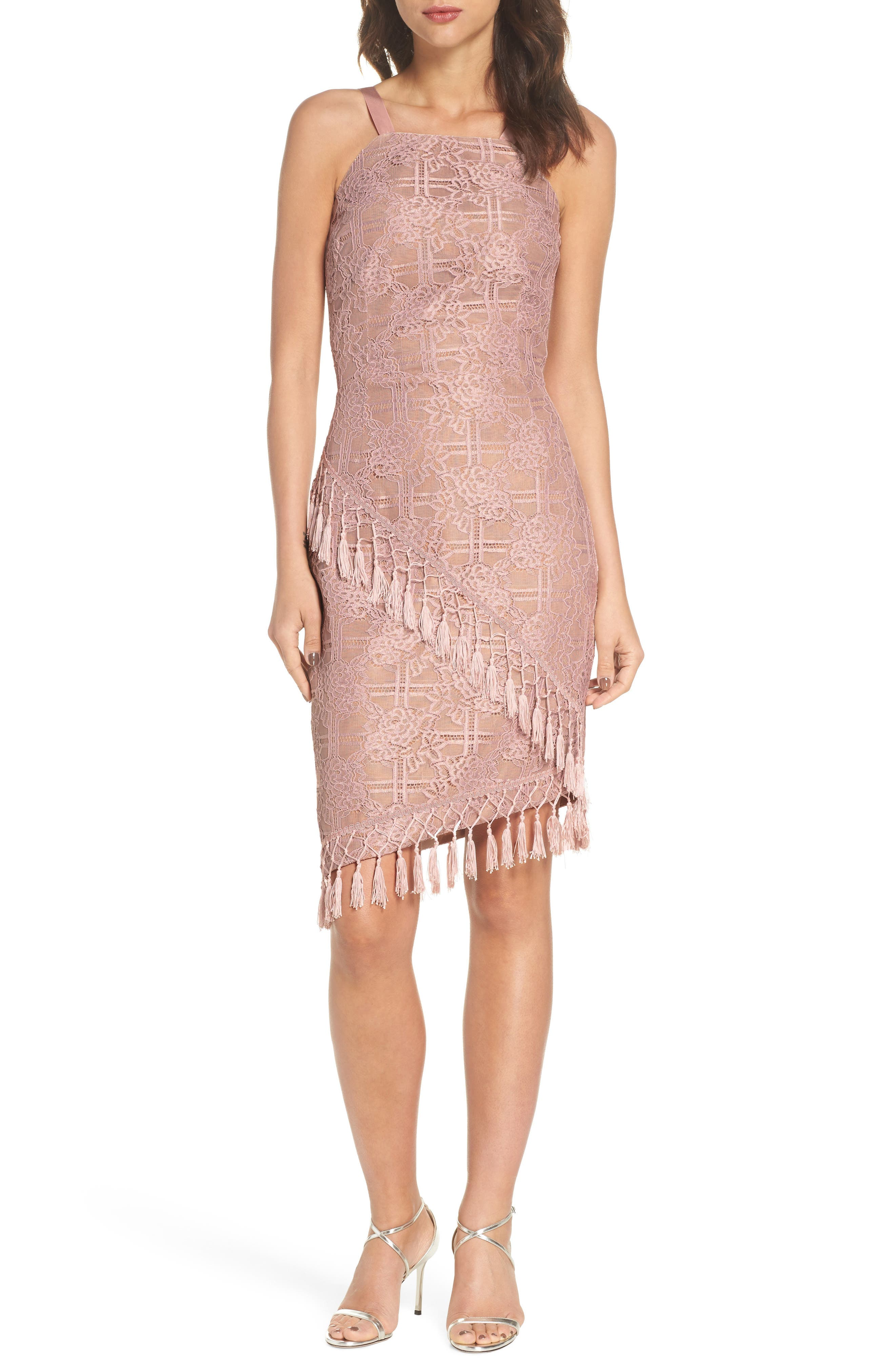 Natasha Asymmetrical Lace Dress,                         Main,                         color, 250