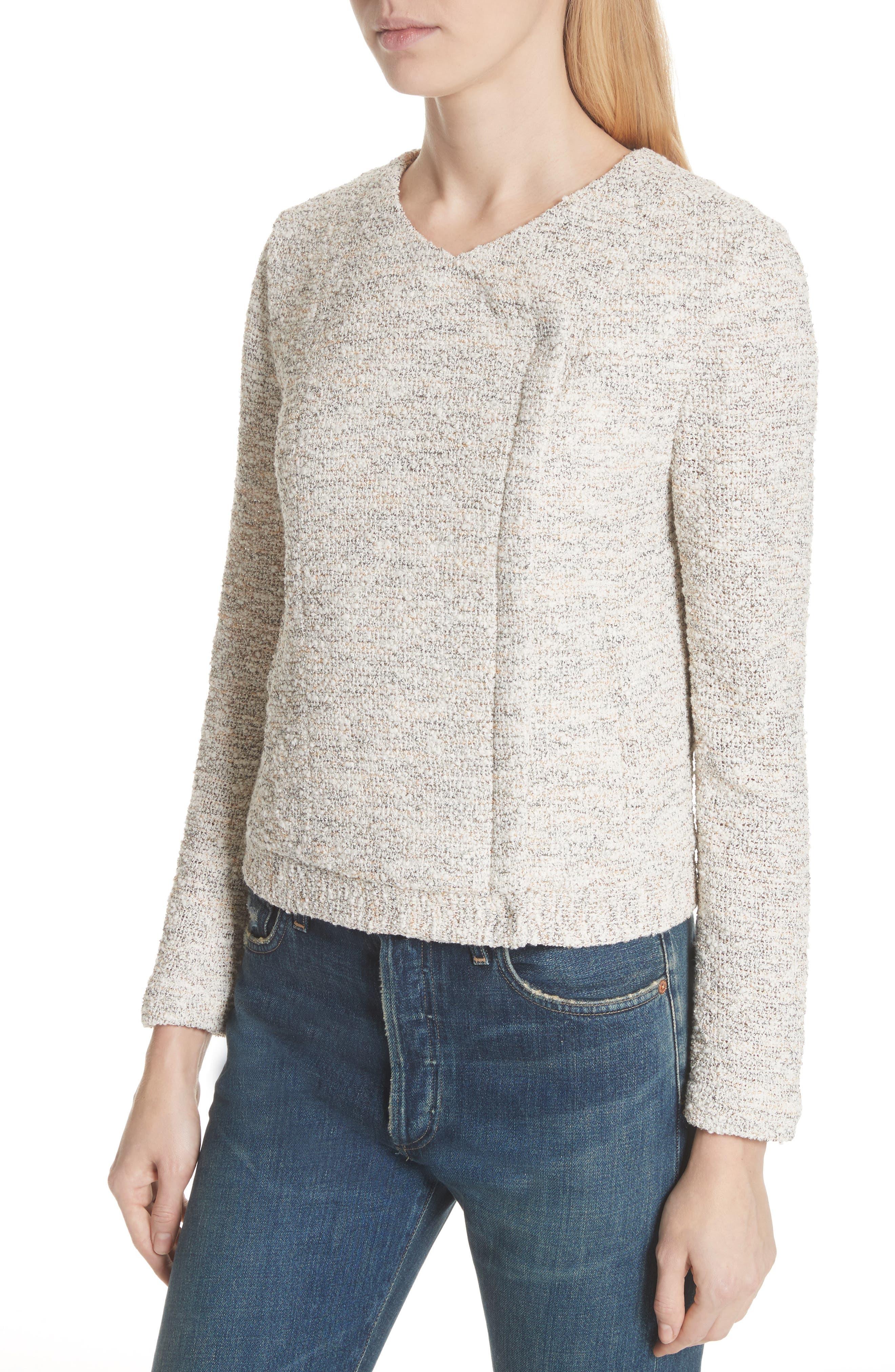 'Balina' Tweed Jacket,                             Alternate thumbnail 4, color,                             114