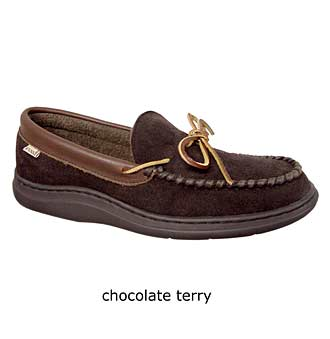 'Atlin' Moccasin,                             Alternate thumbnail 5, color,                             Saddle/ Terry