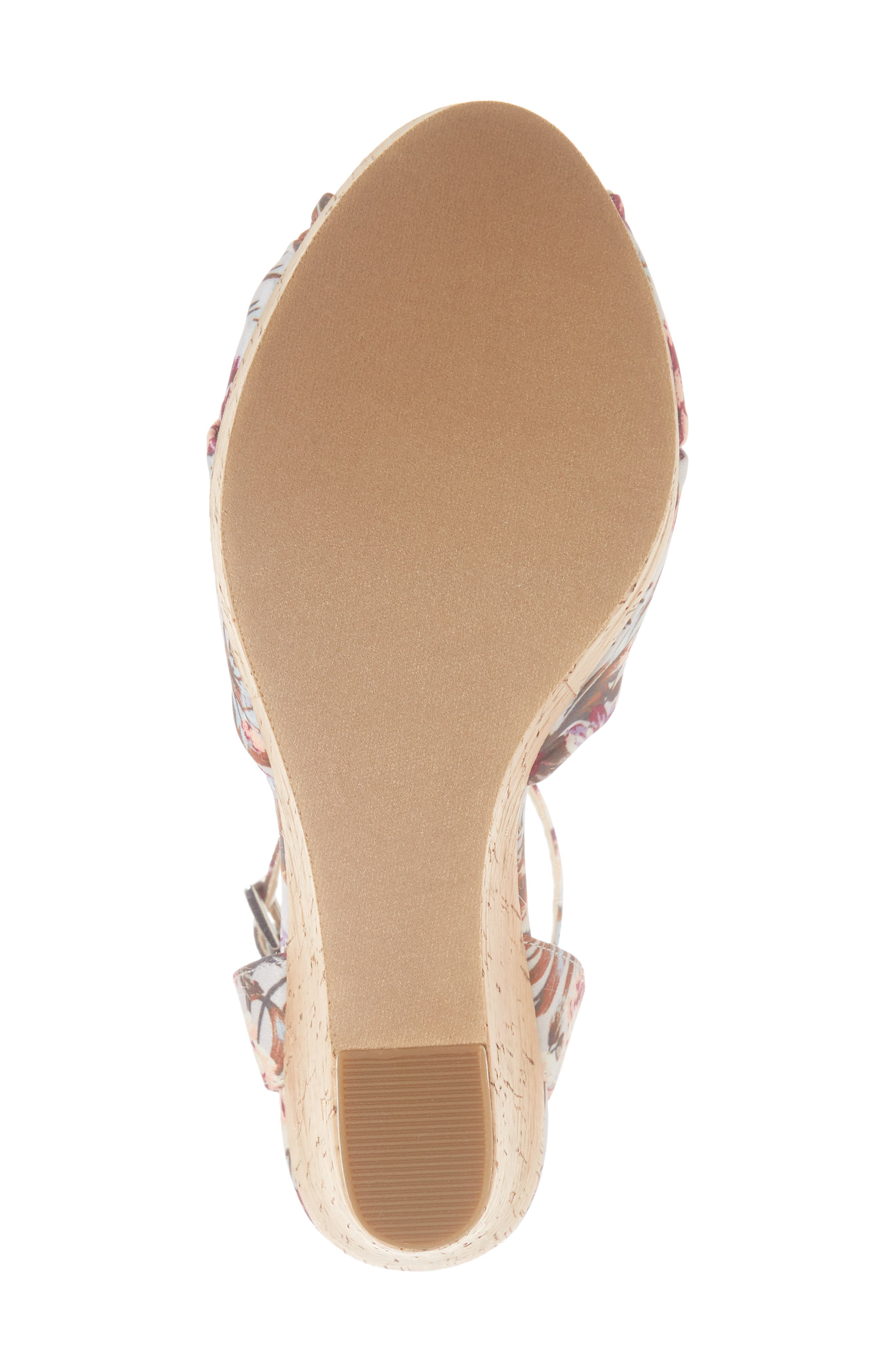 Arya Platform Wedge Sandal,                             Alternate thumbnail 6, color,                             000