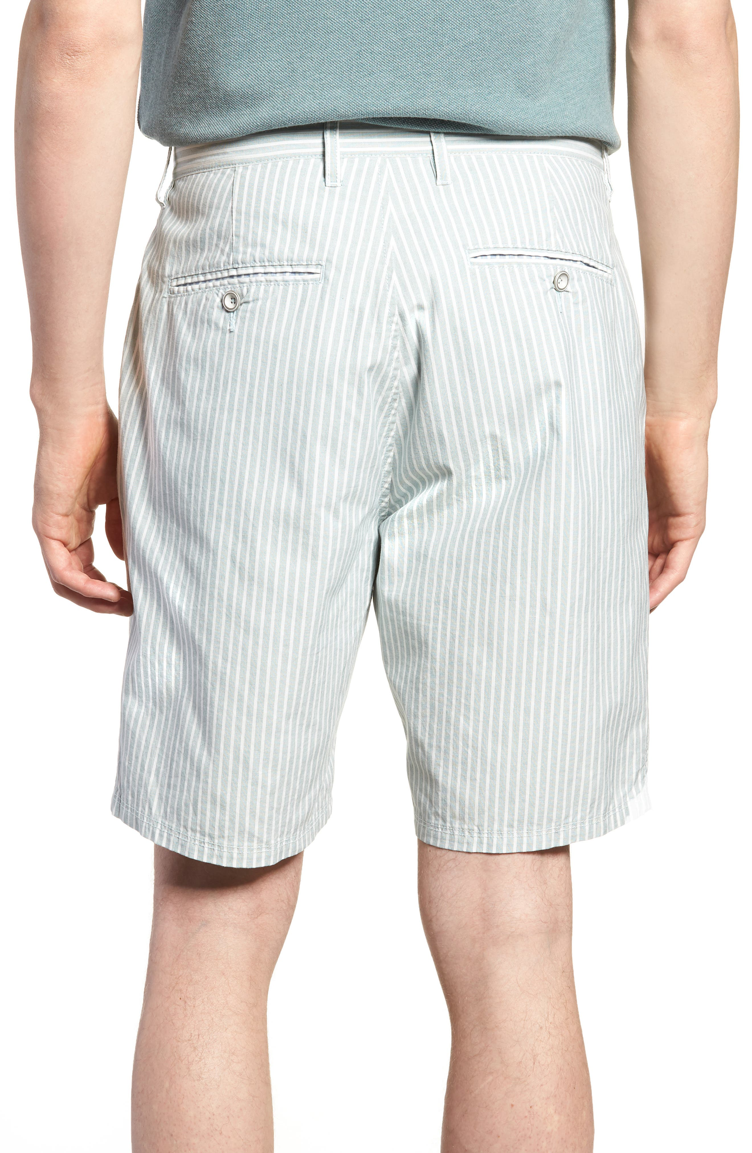 Preston Regular Fit Flat Front Shorts,                             Alternate thumbnail 2, color,                             PINE