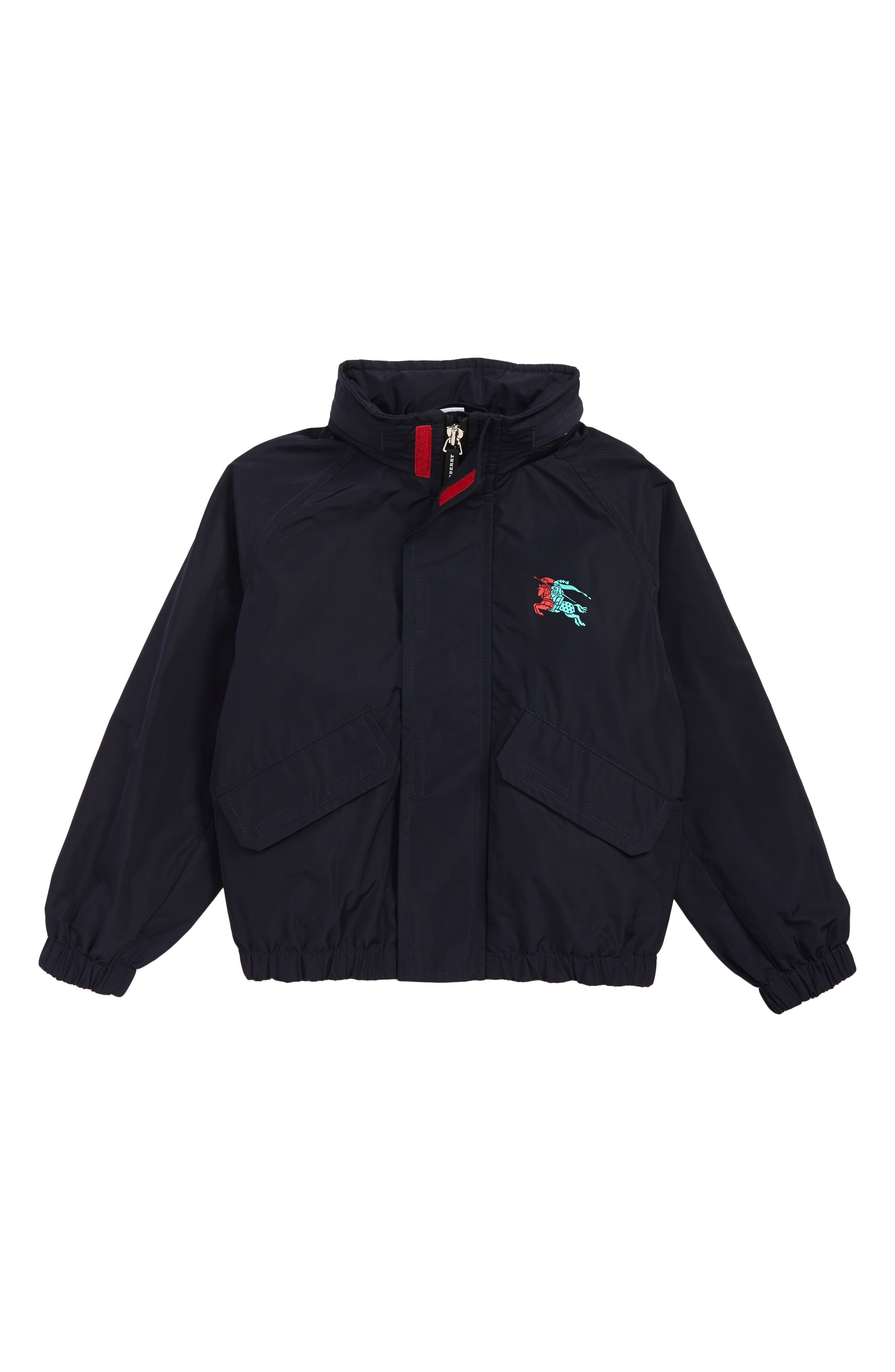 Easton Waterproof Hooded Jacket,                             Main thumbnail 1, color,                             NAVY