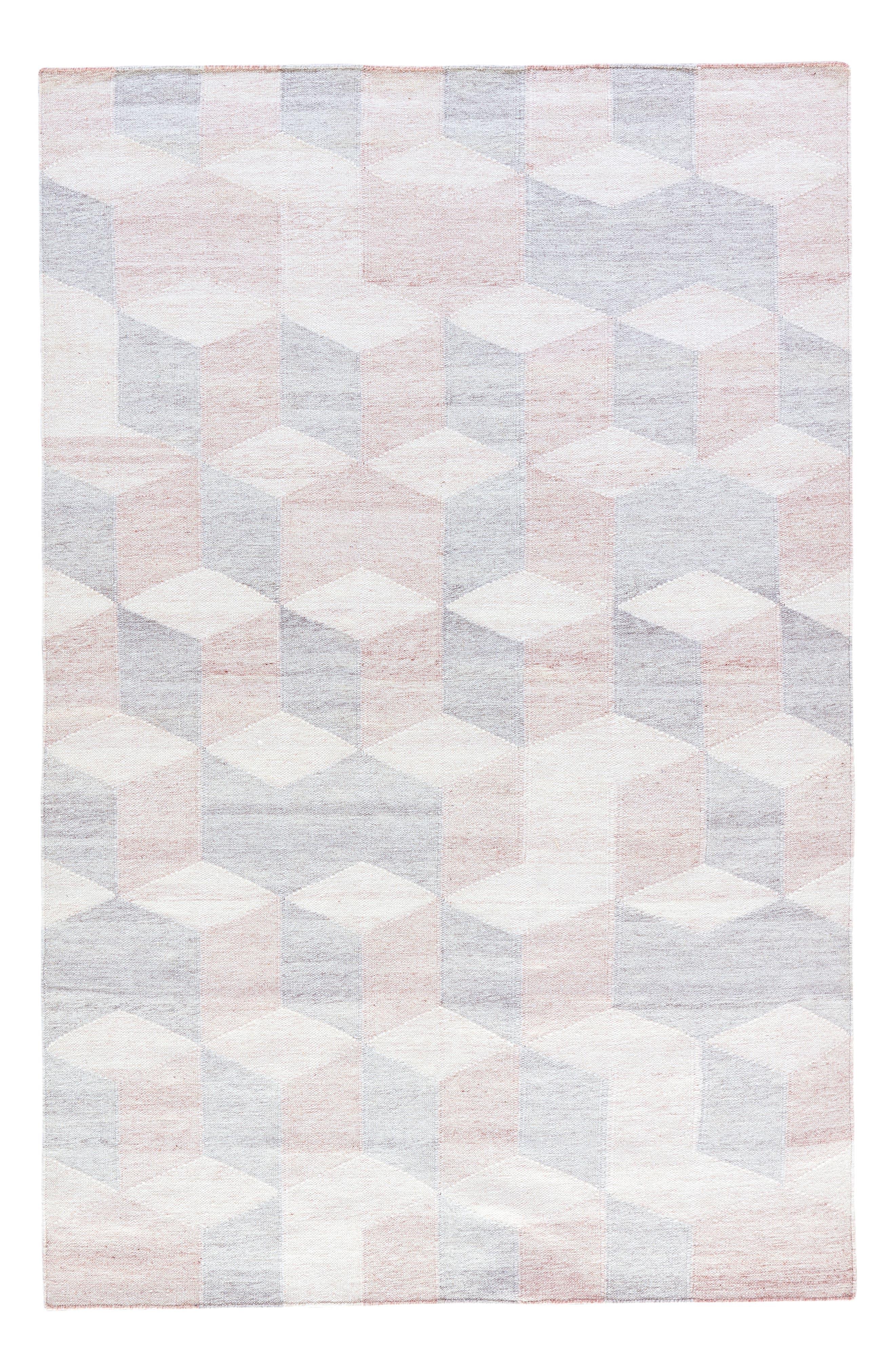 Pyramid Blocks Rug,                             Main thumbnail 3, color,