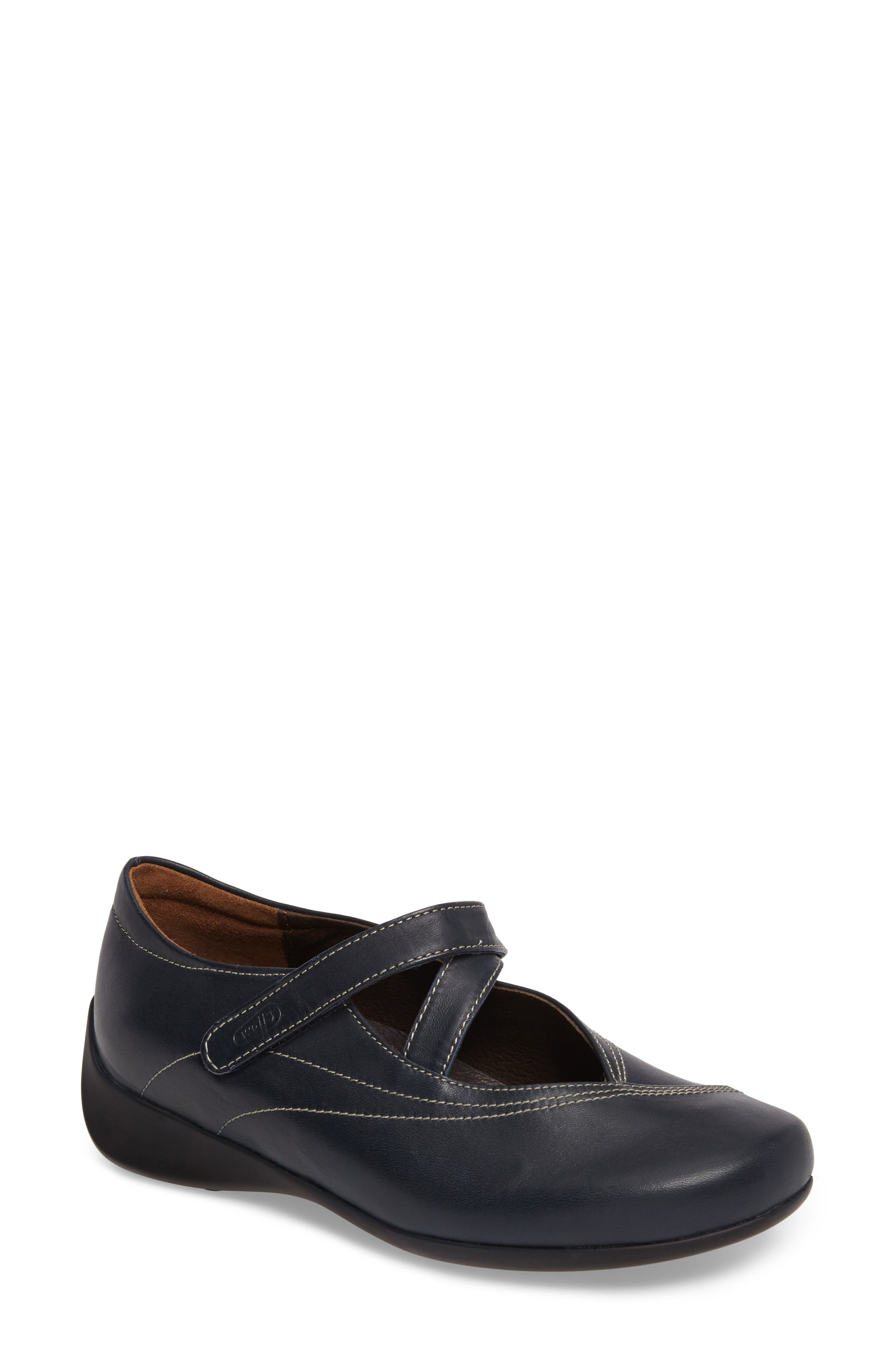 WOLKY Passion Mary Jane Flat, Main, color, NAVY LEATHER