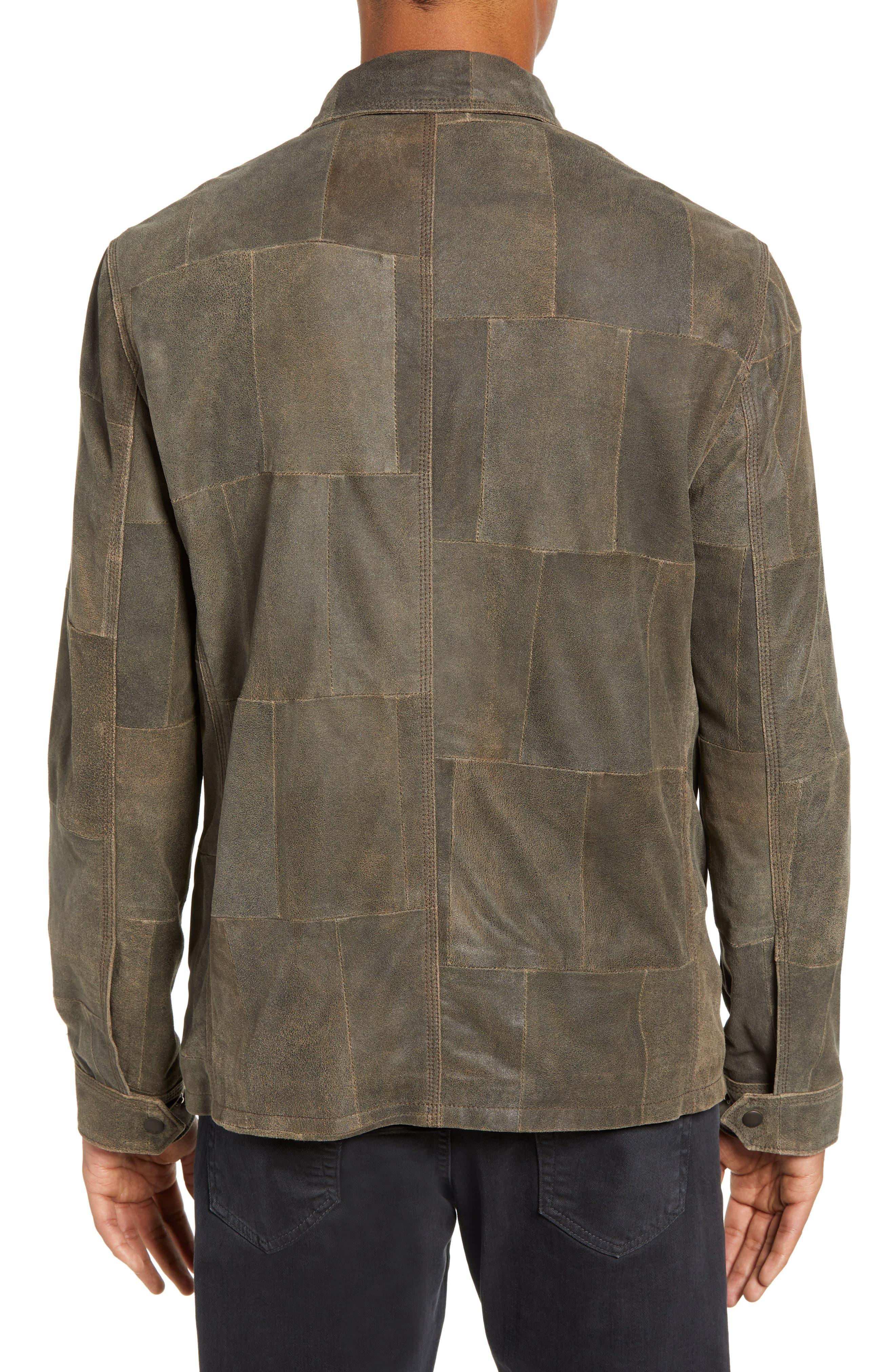 JOHN VARVATOS STAR USA,                             Patchwork Goat Leather Jacket,                             Alternate thumbnail 2, color,                             RYE