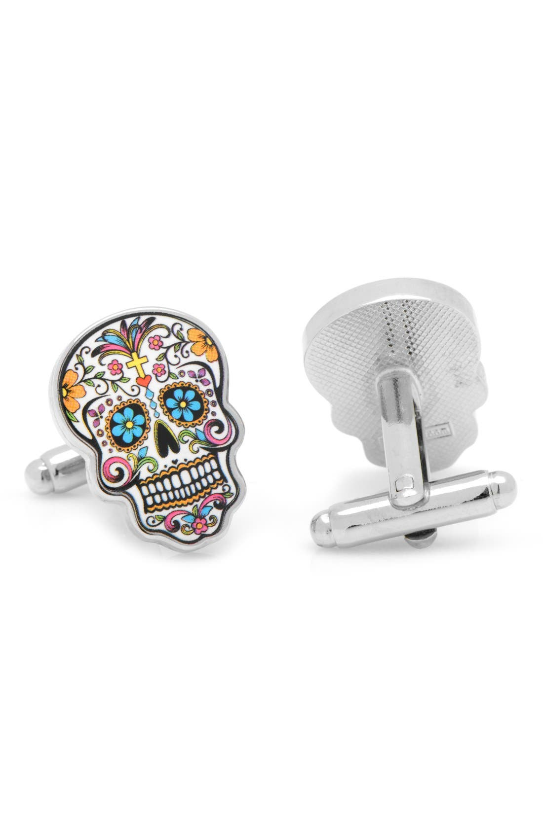 'Day of the Dead' Cuff Links,                             Alternate thumbnail 2, color,                             040