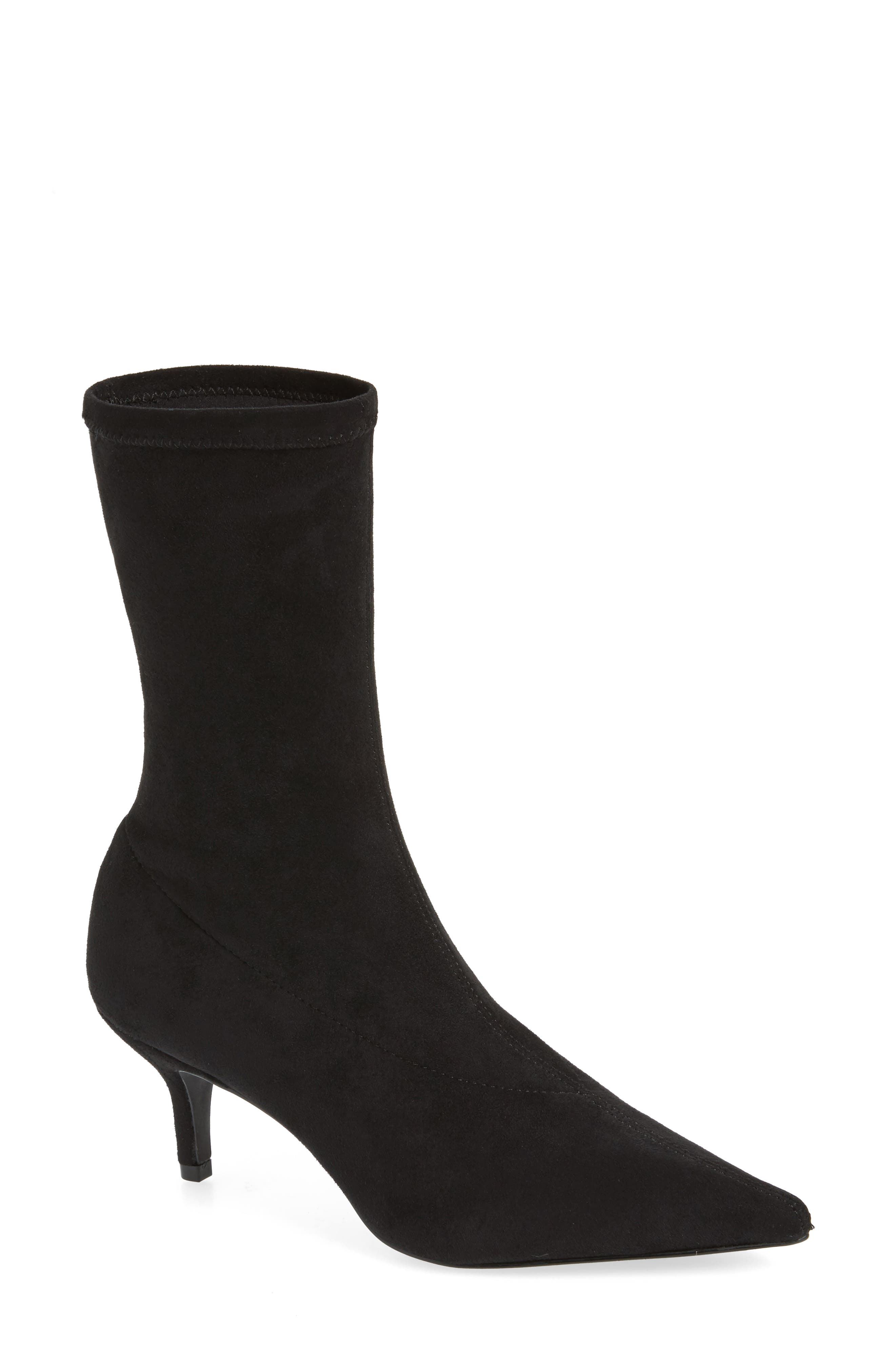 Ramone Floral Sock Bootie,                             Main thumbnail 1, color,                             001
