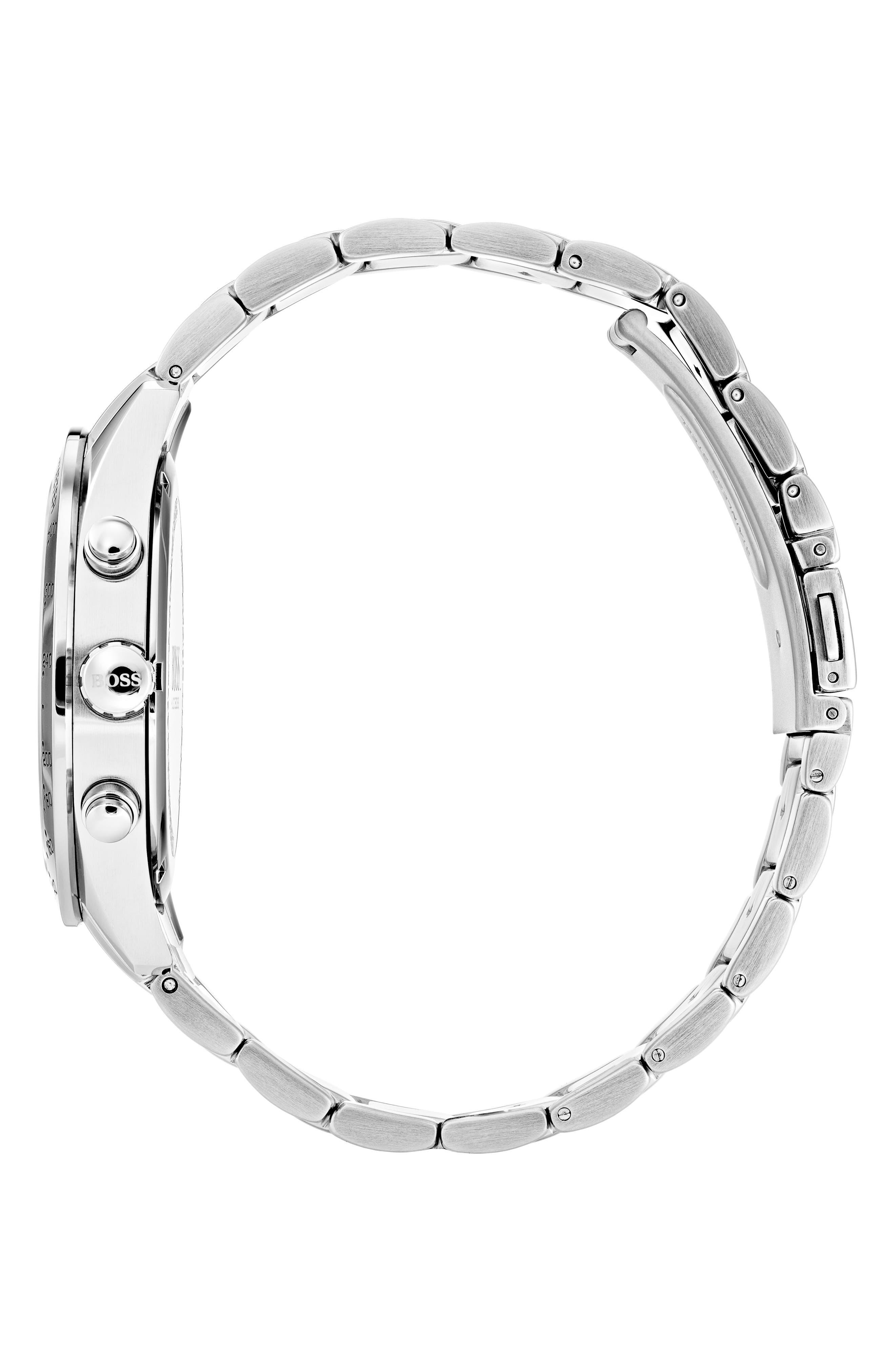 BOSS,                             Talent Chronograph Bracelet Watch, 42mm,                             Alternate thumbnail 3, color,                             BLUE/ STAINLESS