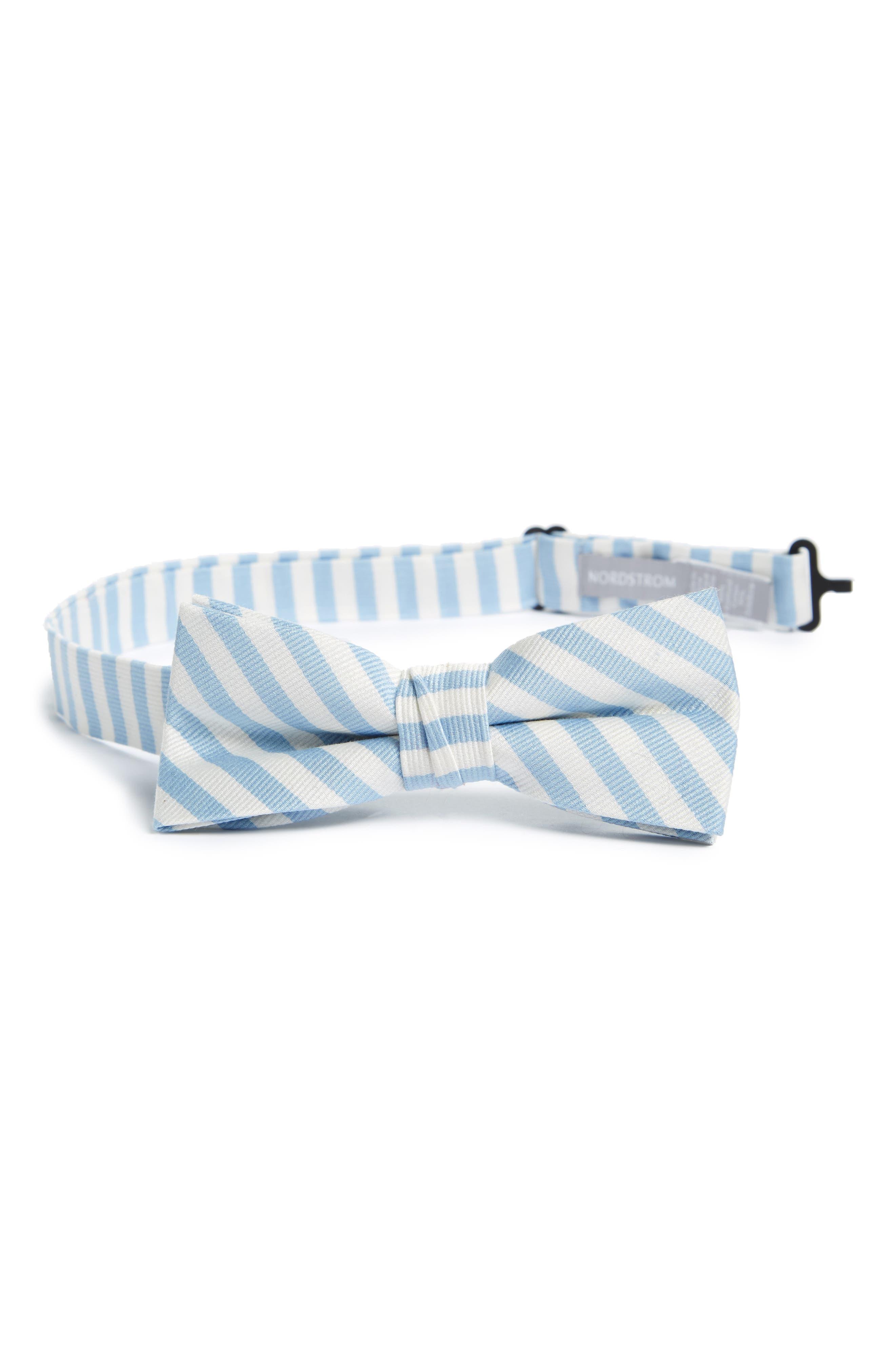 Stripe Cotton & Silk Bow Tie,                             Main thumbnail 2, color,