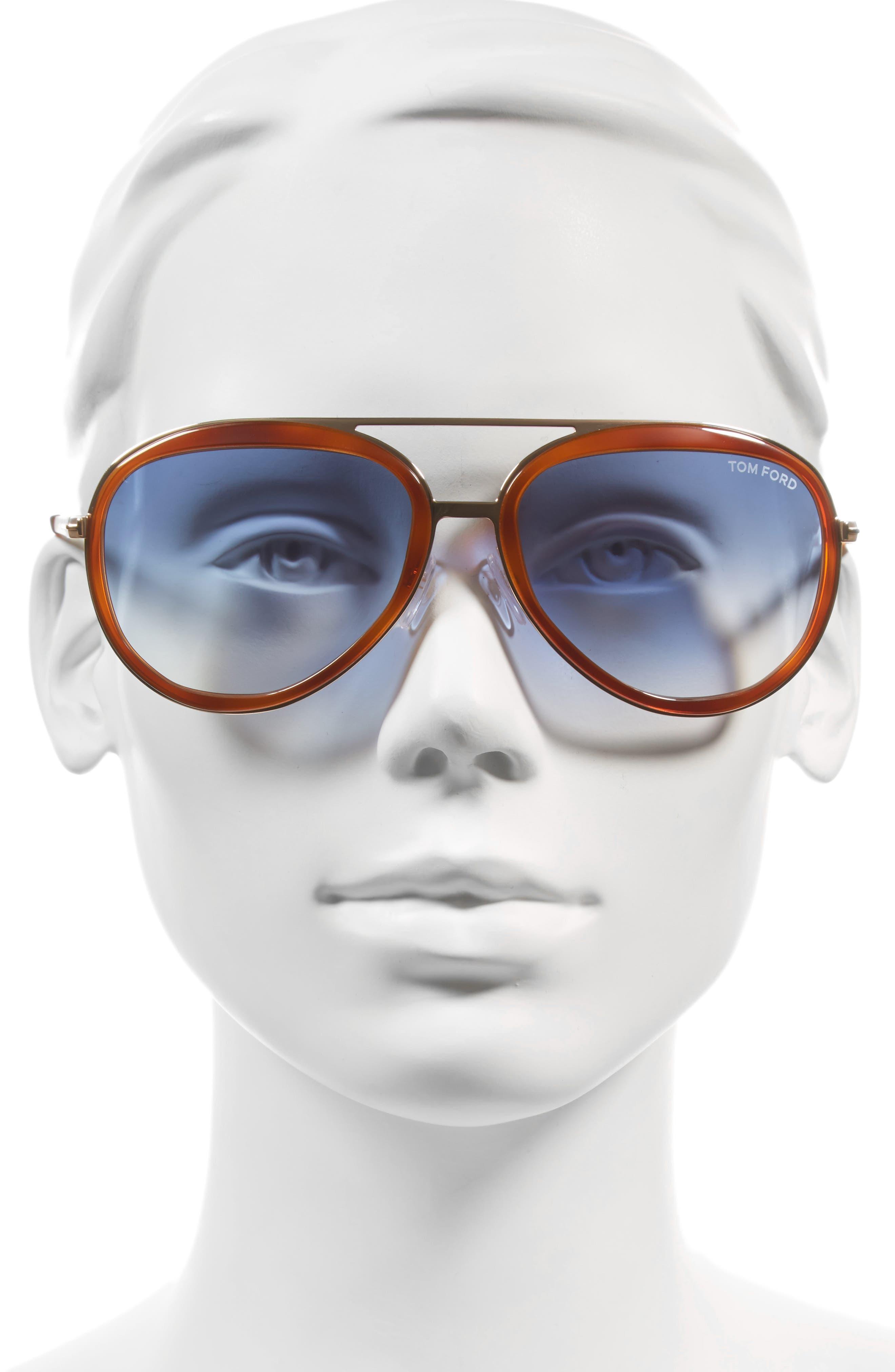 Andy 58mm Aviator Sunglasses,                             Alternate thumbnail 6, color,