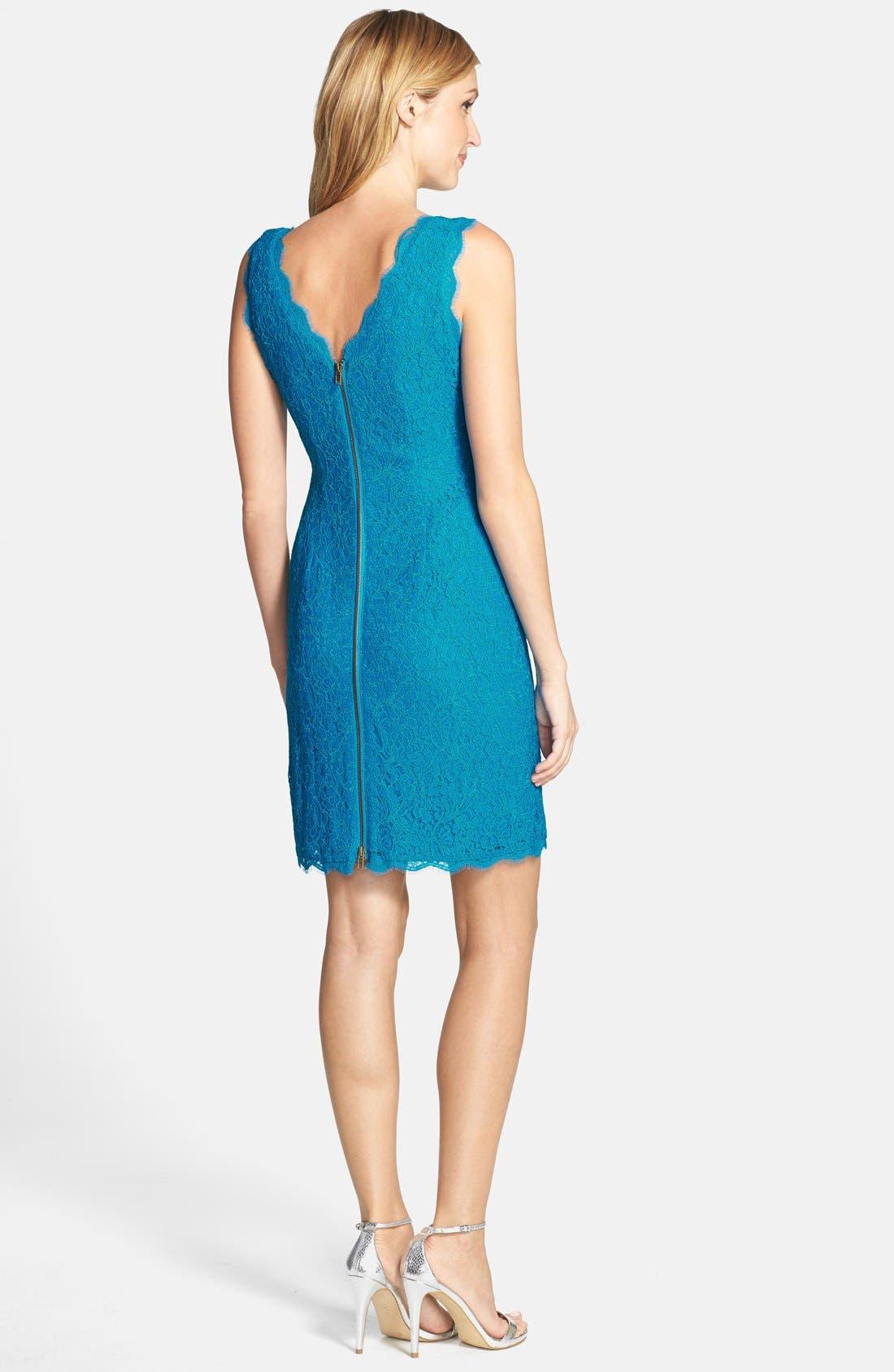 Boatneck Lace Sheath Dress,                             Alternate thumbnail 111, color,