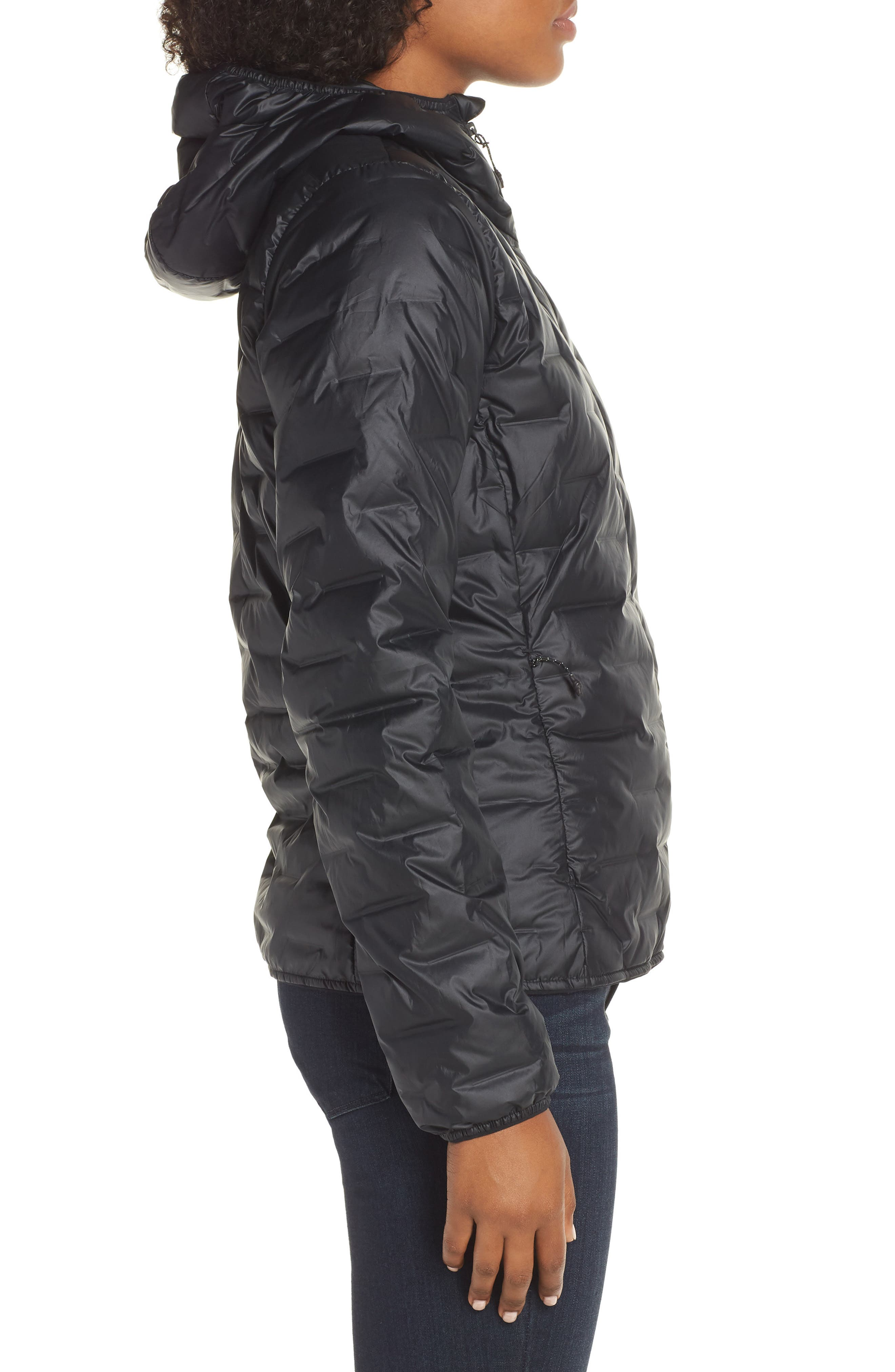 Light Packable Hooded Down Jacket,                             Alternate thumbnail 3, color,                             001