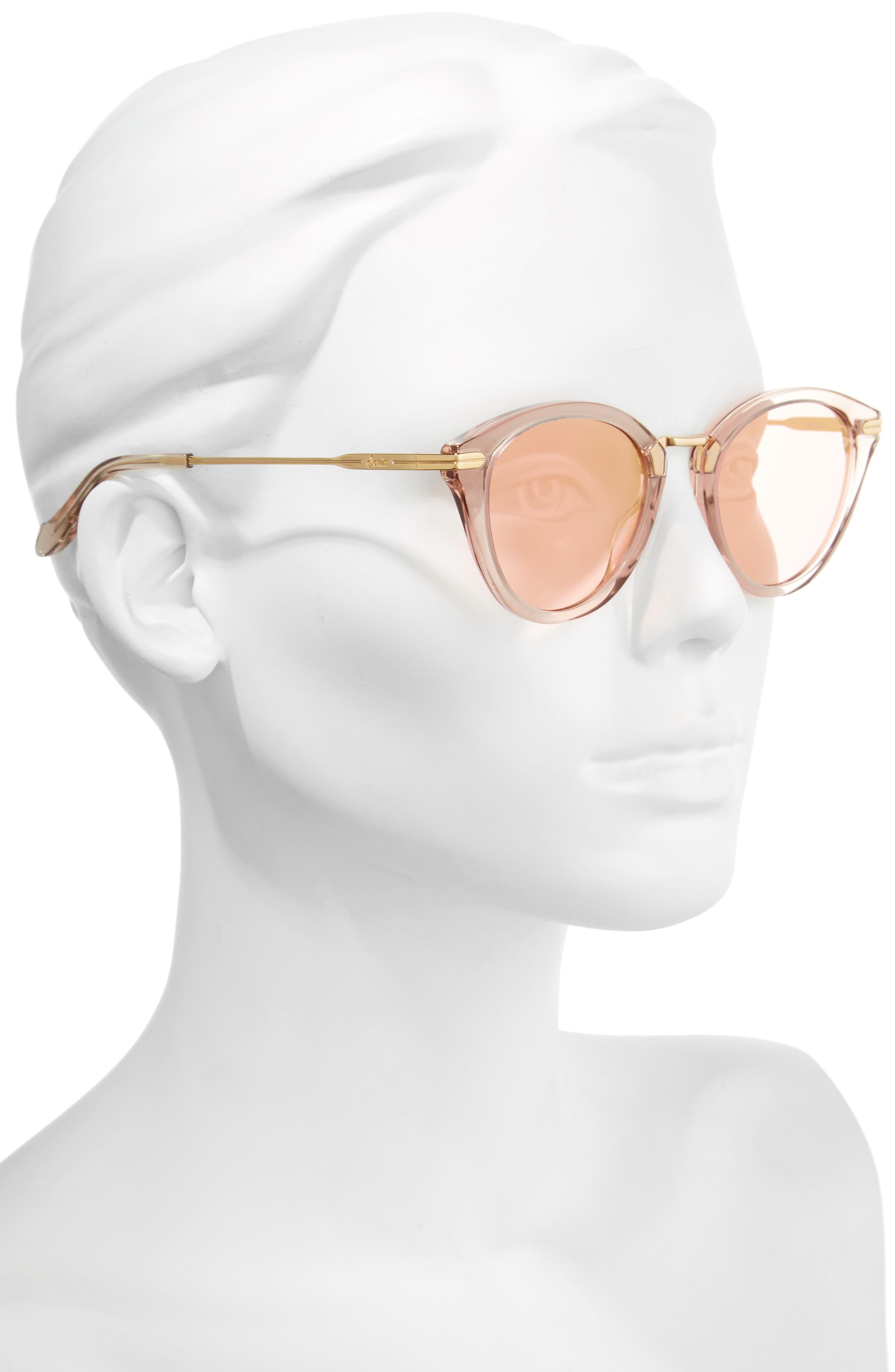 Quinn 48mm Cat Eye Sunglasses,                             Alternate thumbnail 8, color,