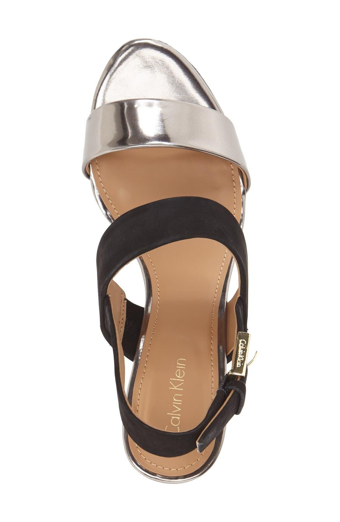 'Pearla' Wedge Sandal,                             Alternate thumbnail 2, color,                             001