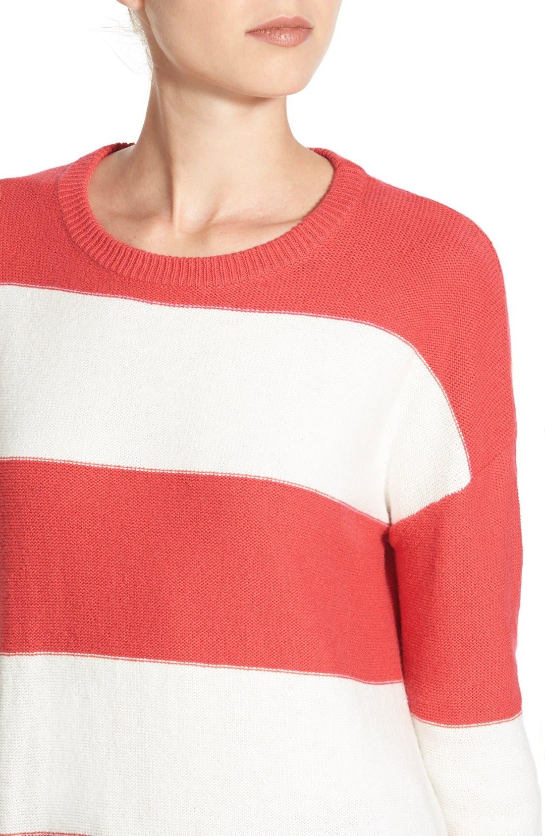 Contrast Cuff Crewneck Sweater,                             Alternate thumbnail 19, color,