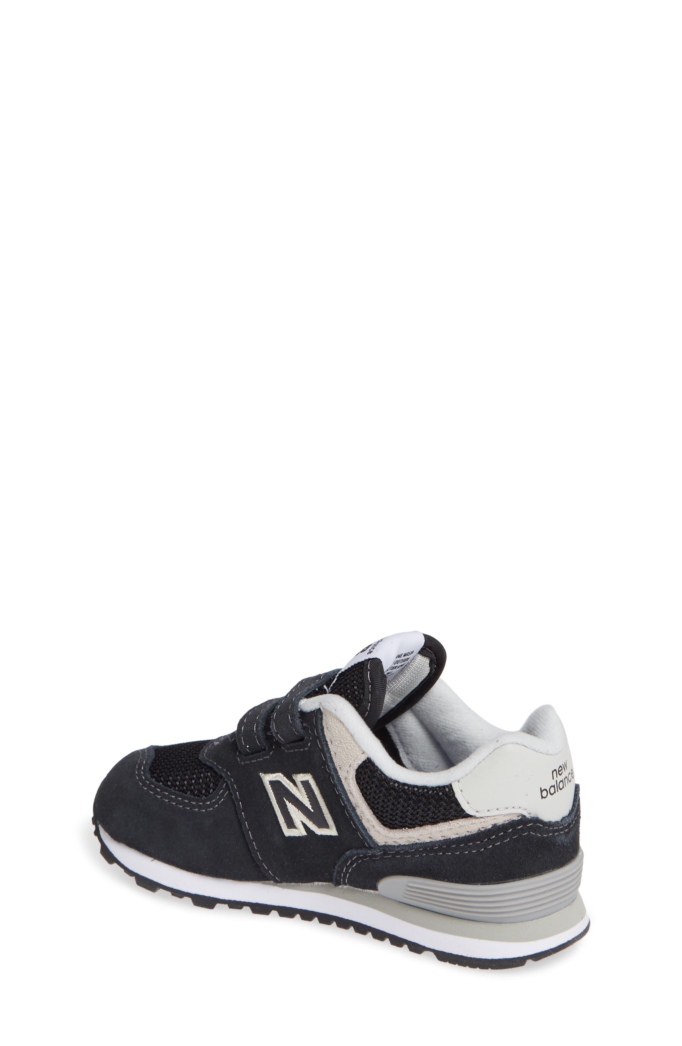'574 Core' Sneaker,                             Alternate thumbnail 2, color,                             BLACK/ GREY