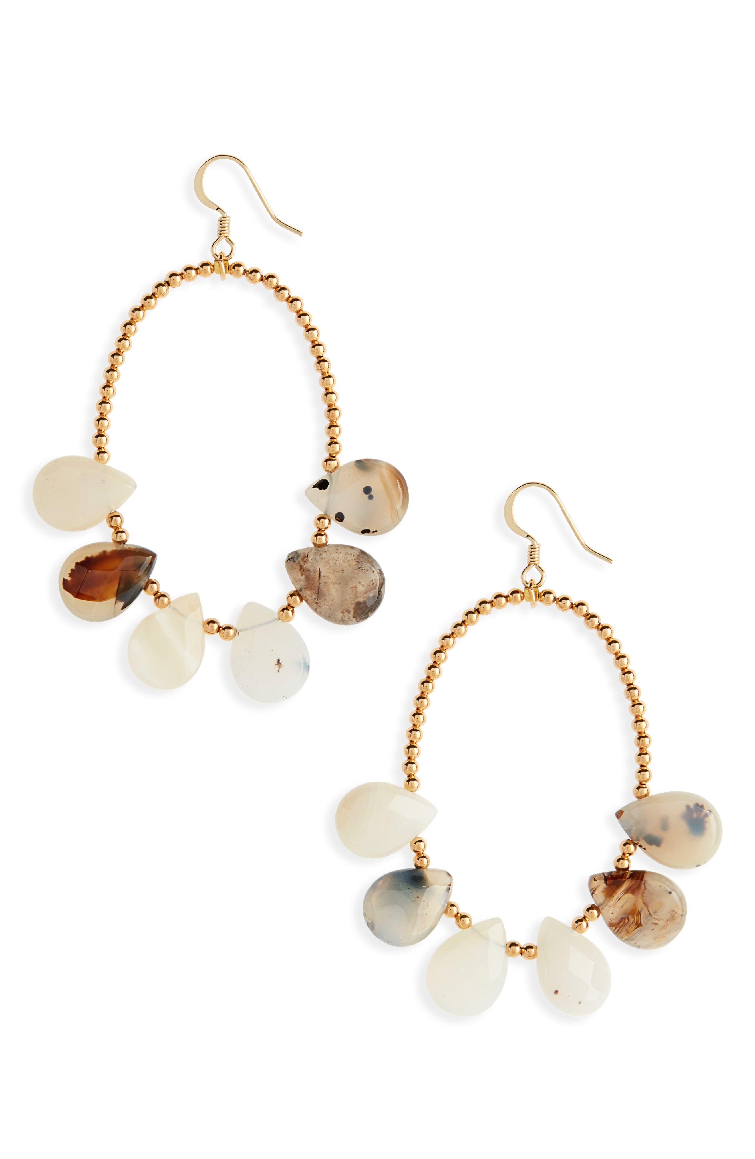 Love's Affect Dahlia Stone & Bead Drop Earrings,                         Main,                         color,