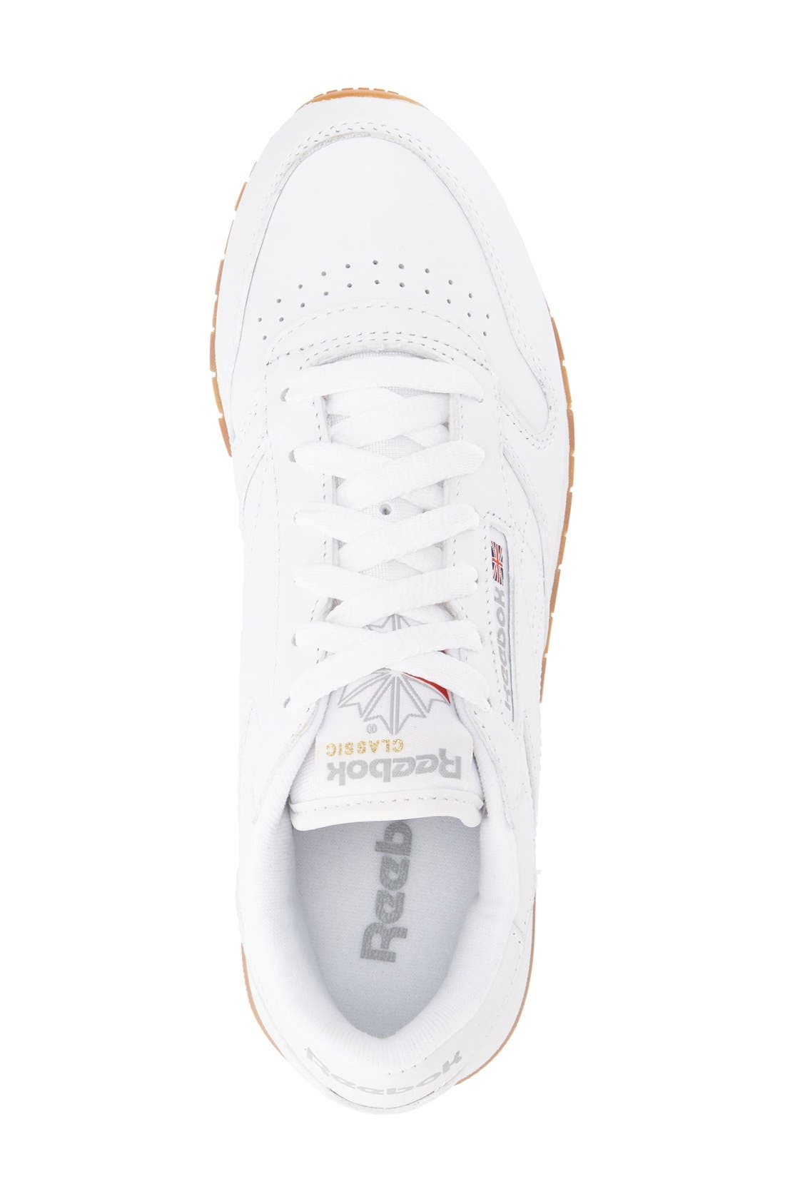REEBOK,                             Classic Leather Sneaker,                             Alternate thumbnail 7, color,                             US-WHITE/ GUM