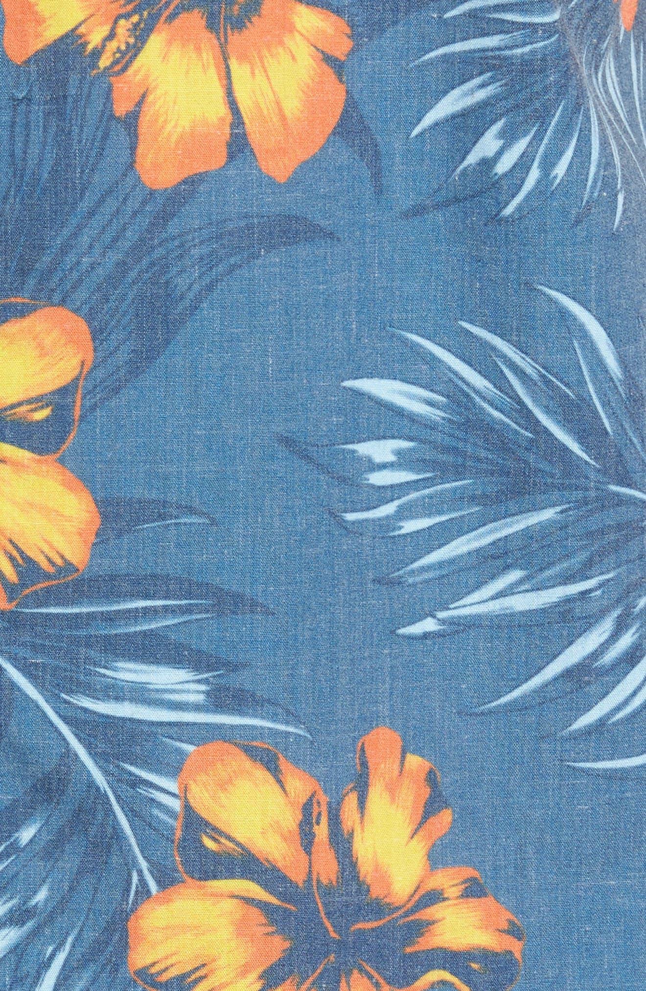 Ala Moana Floral Sport Shirt,                             Alternate thumbnail 5, color,                             439