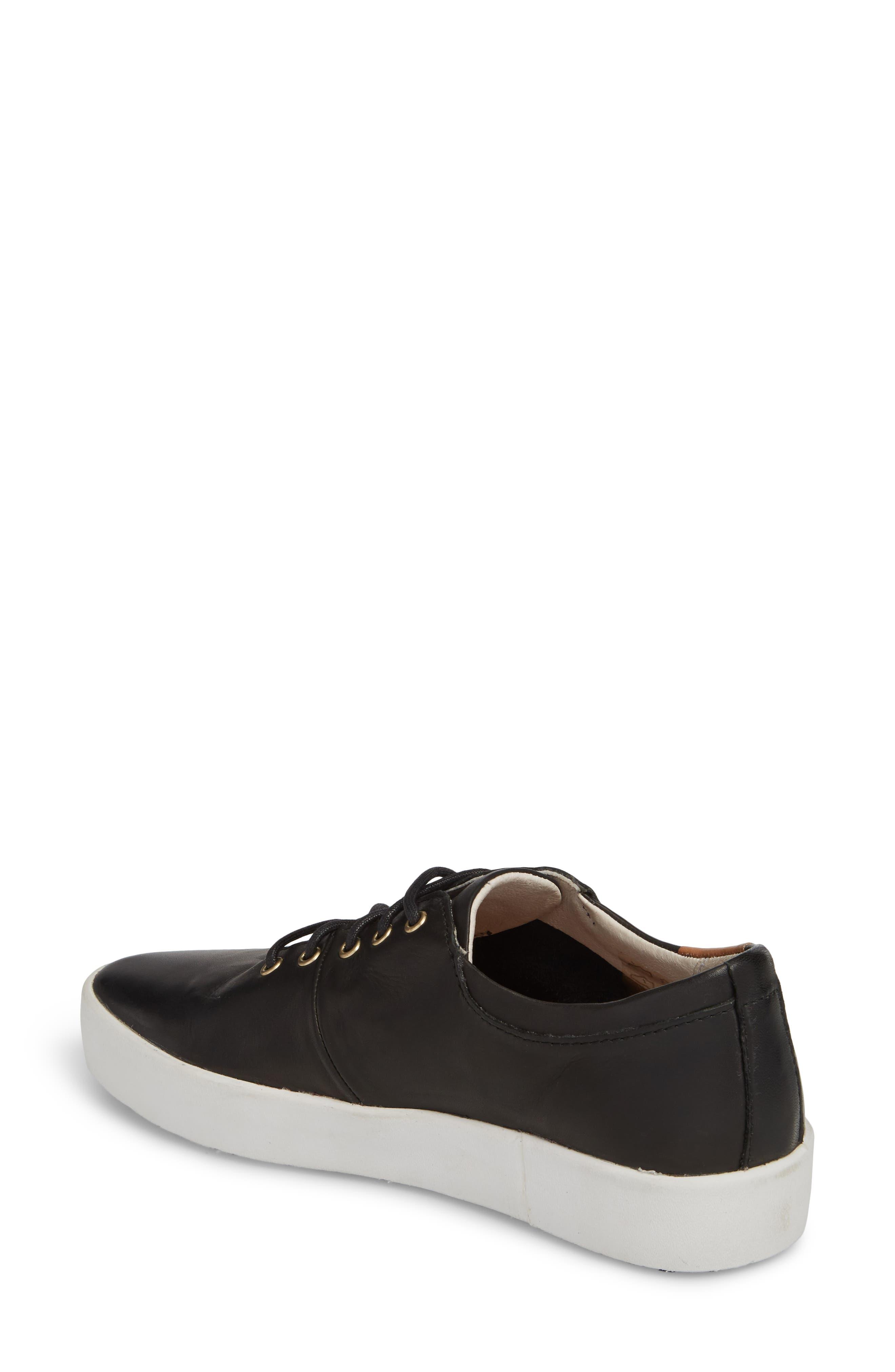 PL74 Sneaker,                             Alternate thumbnail 2, color,                             BLACK LEATHER