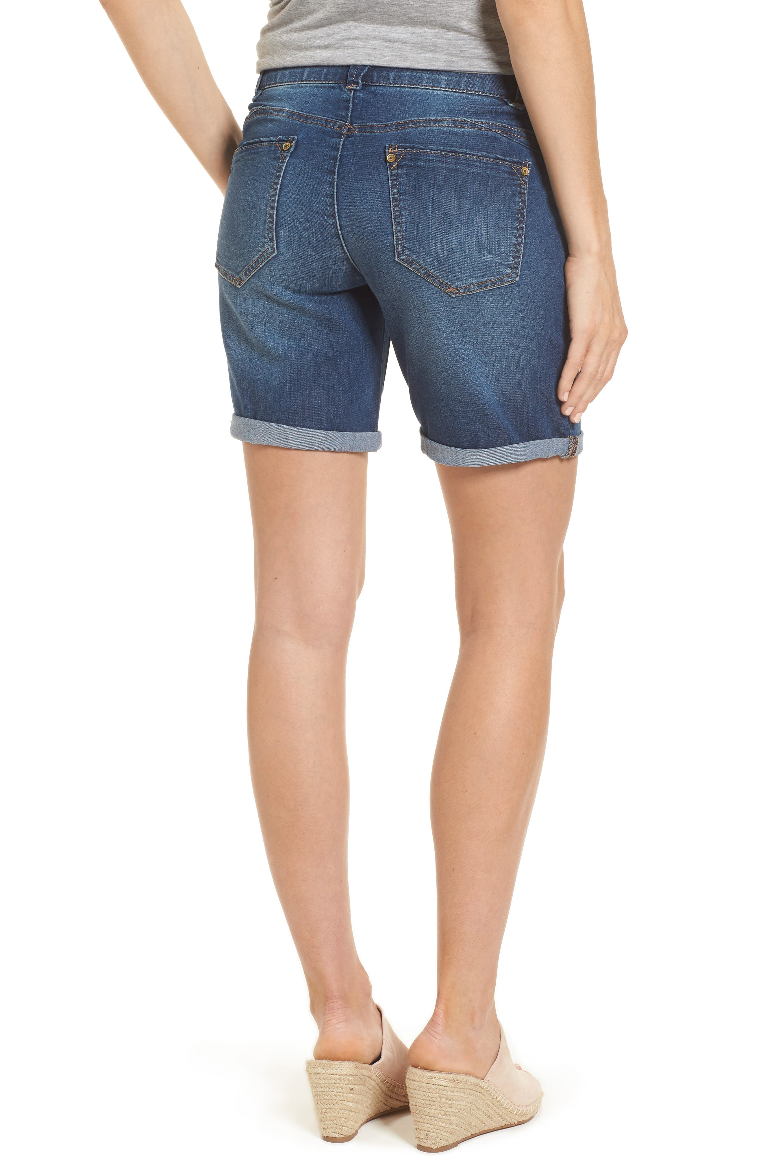 Ab-solution Cuffed Denim Shorts,                             Alternate thumbnail 2, color,                             420