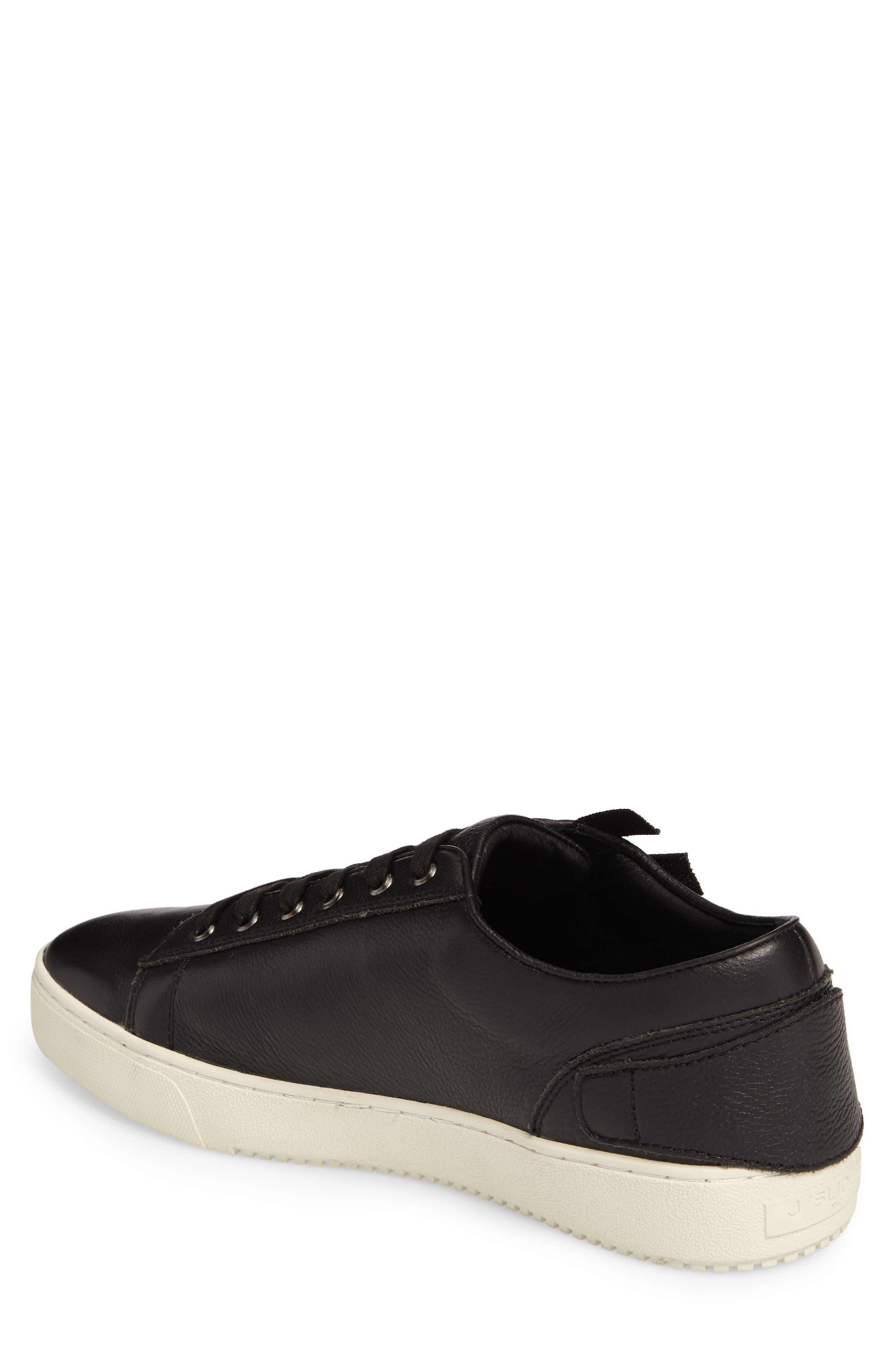 Wayne Sneaker,                             Alternate thumbnail 2, color,                             BLACK LEATHER
