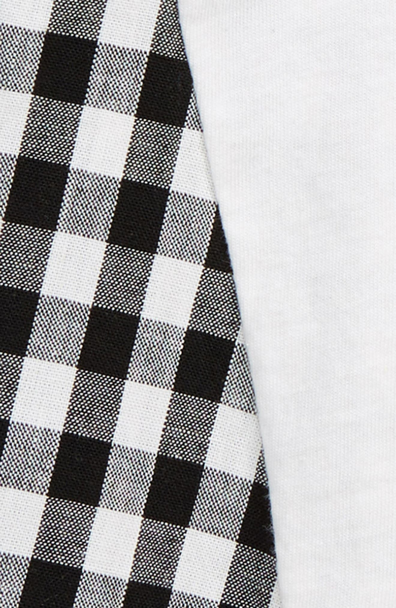 Jaoh Love Check Top,                             Alternate thumbnail 3, color,                             WHITE/ BLACK CHECK