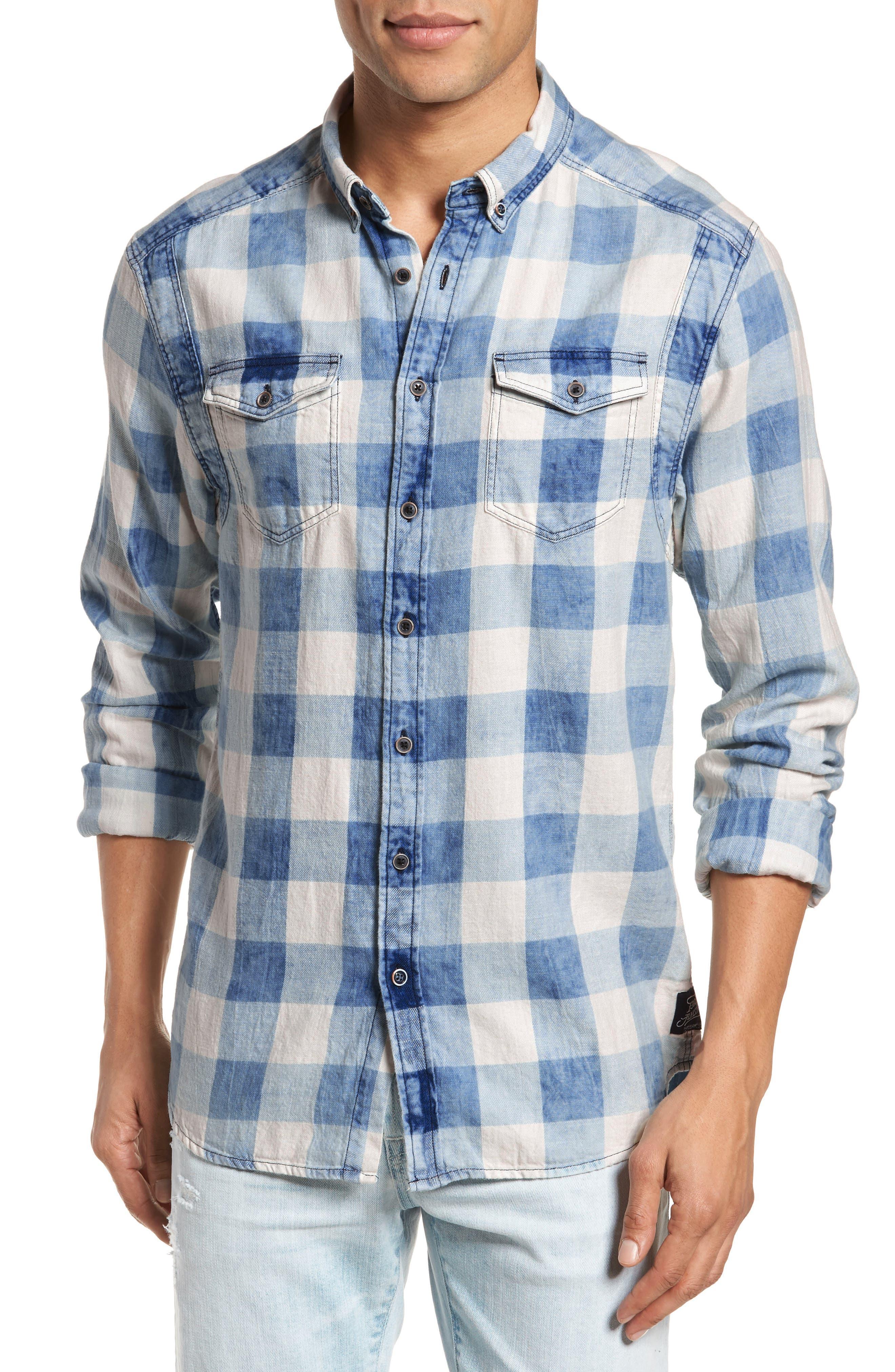 Amsterdams Blauw Check Shirt,                         Main,                         color, 400