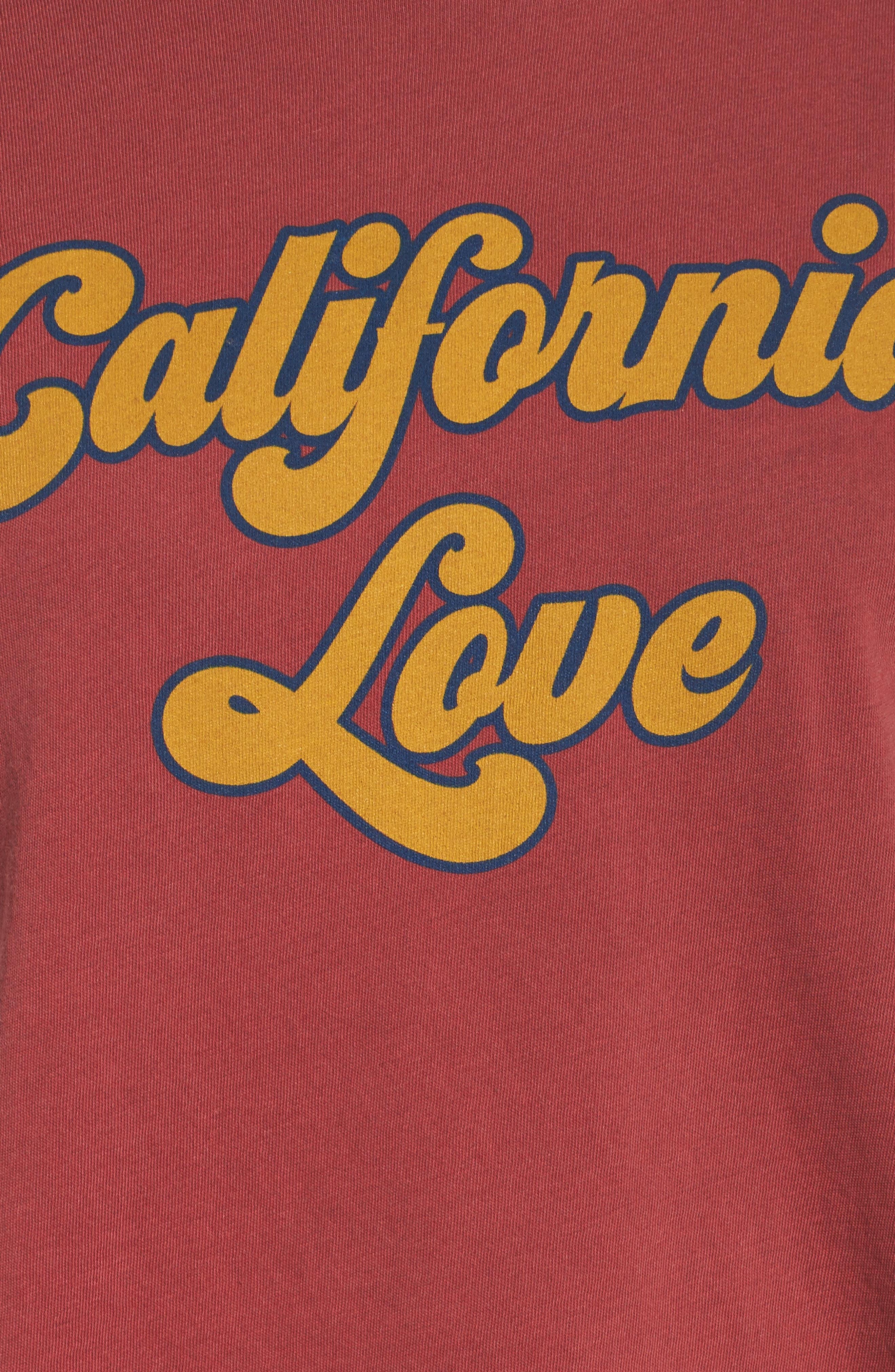 California Love Boyfriend Tee,                             Alternate thumbnail 6, color,                             600