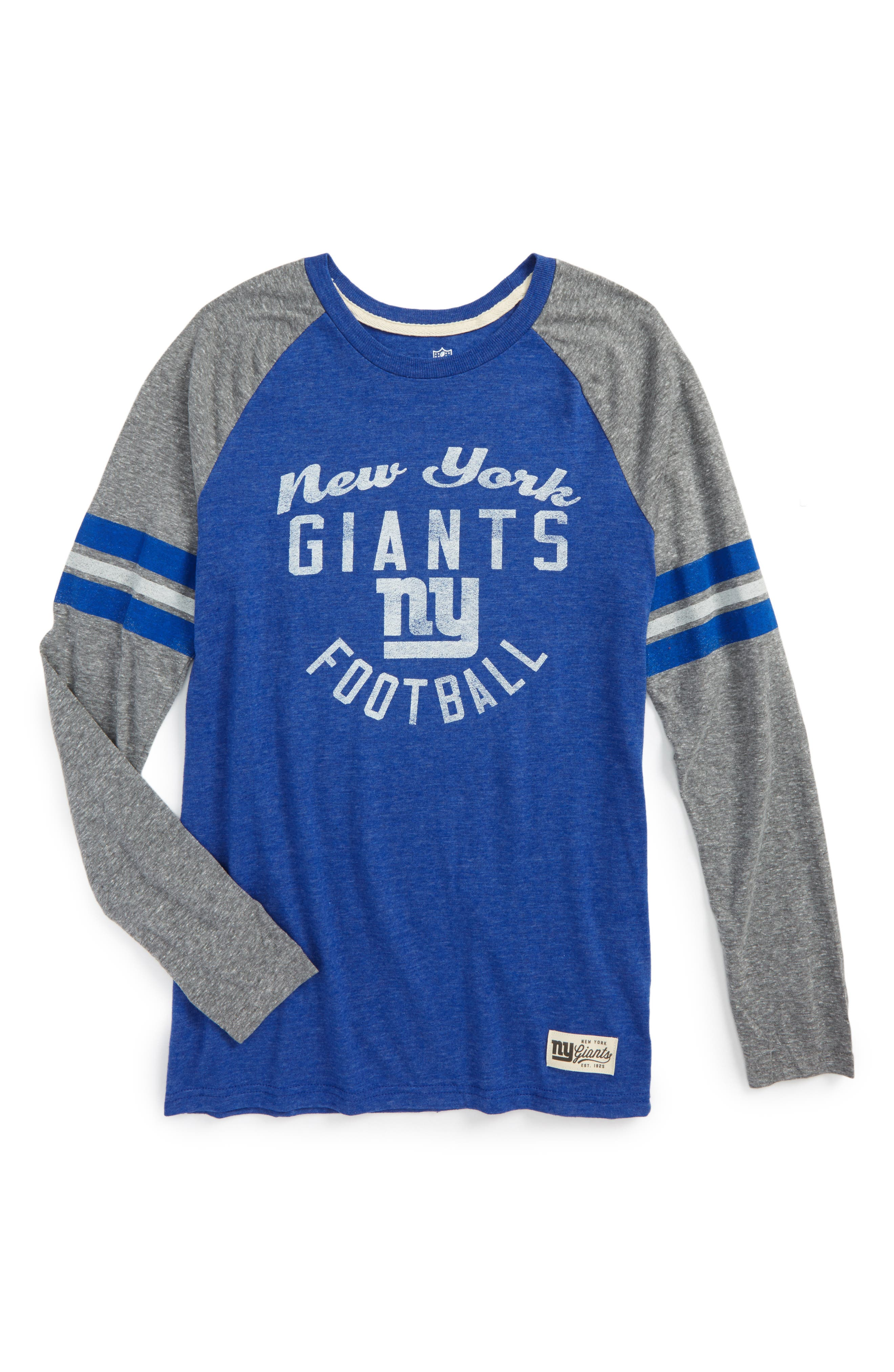 NFL New York Giants Distressed Logo T-Shirt,                         Main,                         color, 400