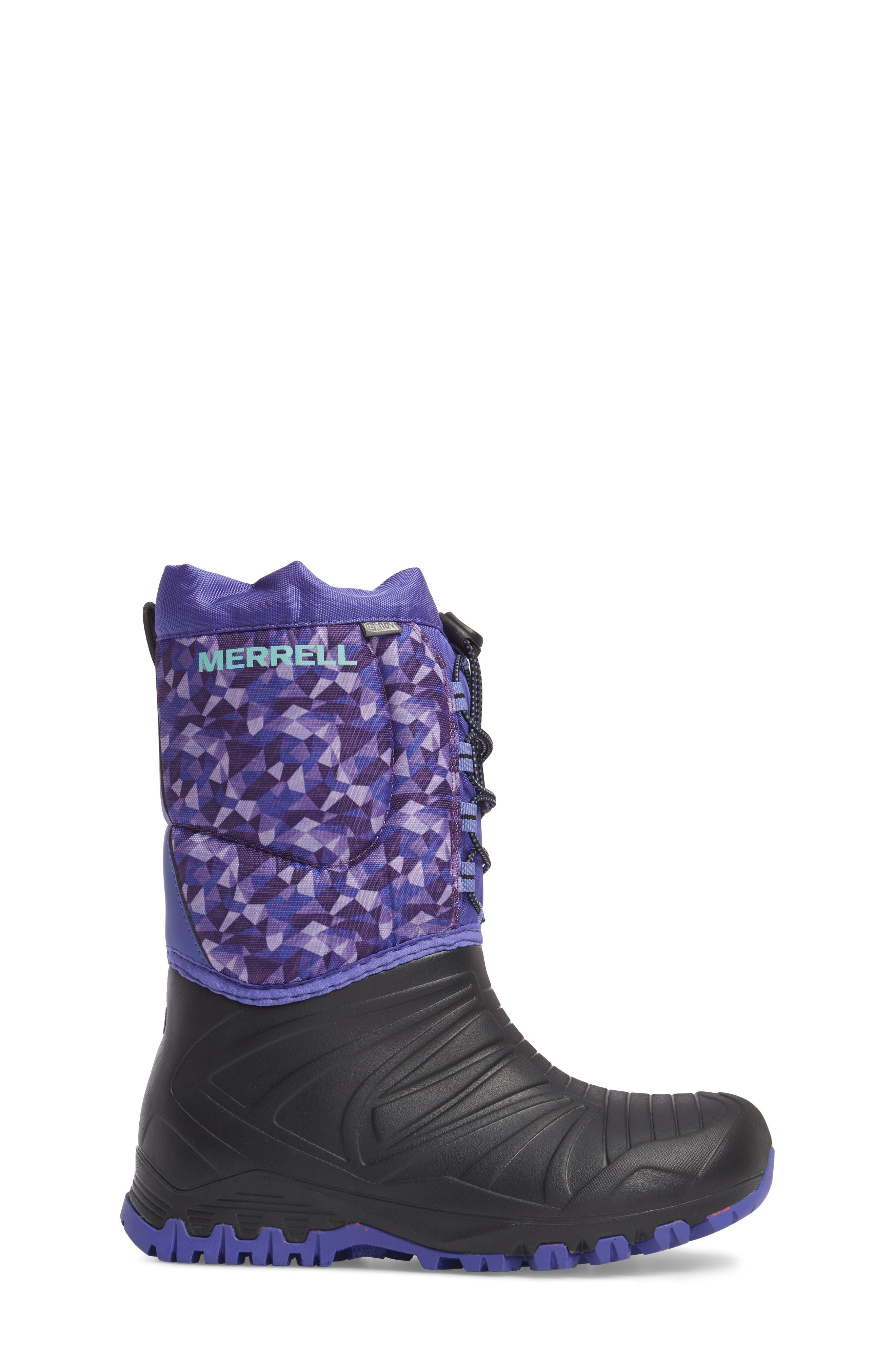 Snow Quest Lite Waterproof Boot,                             Alternate thumbnail 3, color,                             002