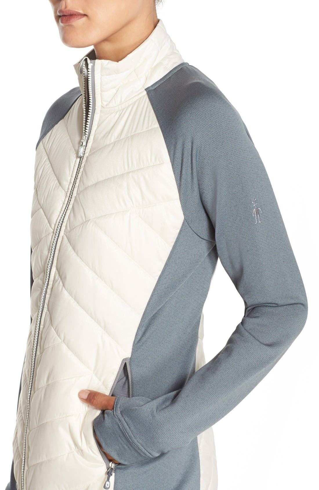 'Double Corbet 120' Water Resistant Quilted Jacket,                             Alternate thumbnail 3, color,                             100