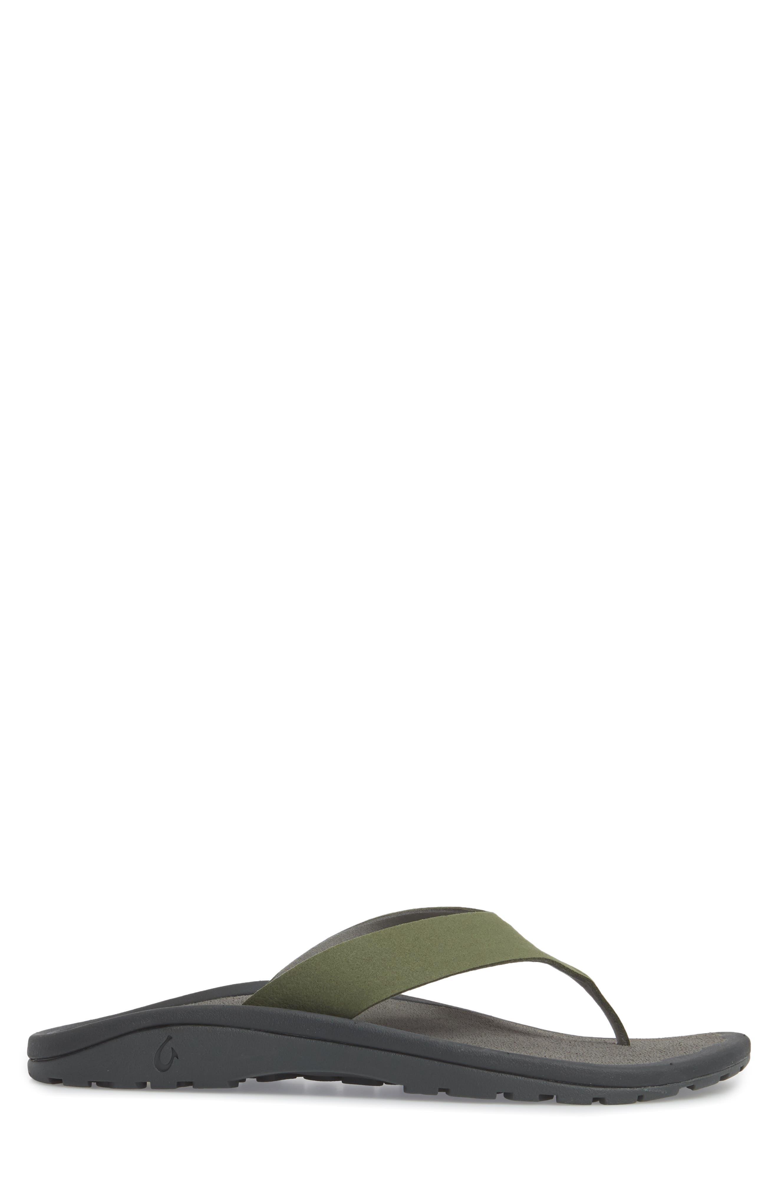 Ohana Ho'okahi Flip Flop,                             Alternate thumbnail 3, color,                             SEA GRASS/ CHARCOAL