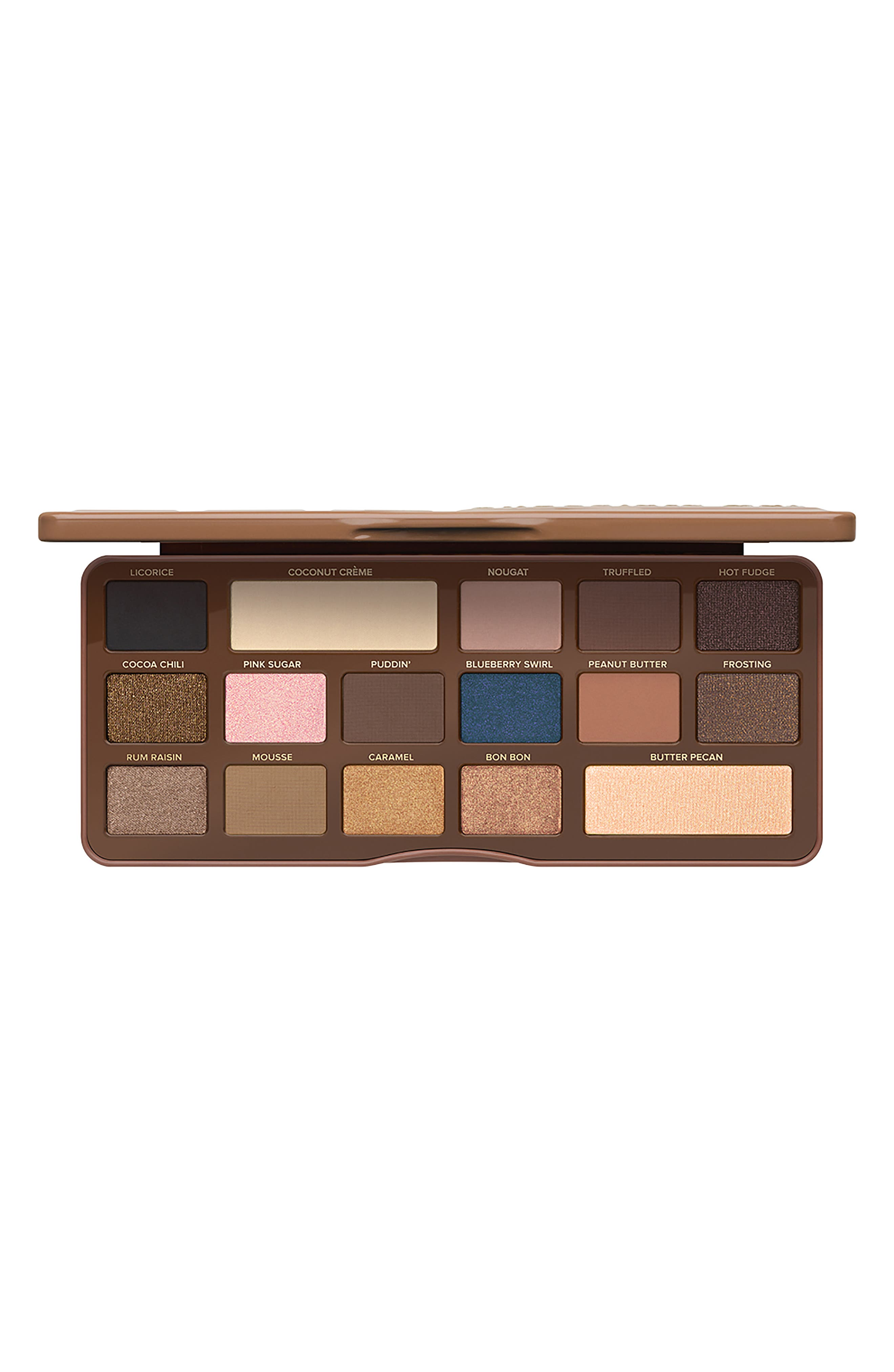 TOO FACED,                             Semi-Sweet Chocolate Bar Eyeshadow Palette,                             Main thumbnail 1, color,                             NO COLOR