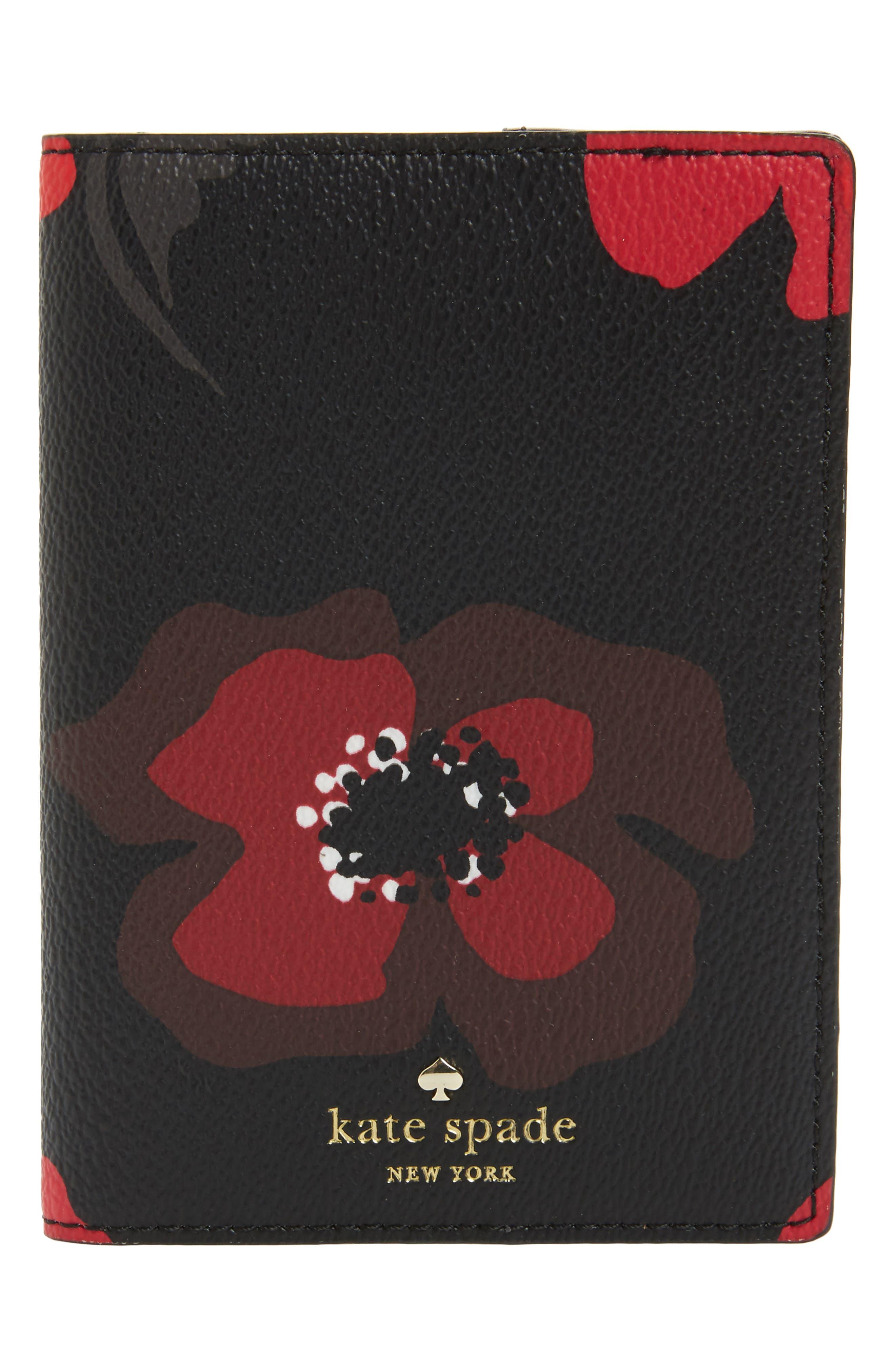 hyde lane - poppy leather passport holder,                         Main,                         color, 001