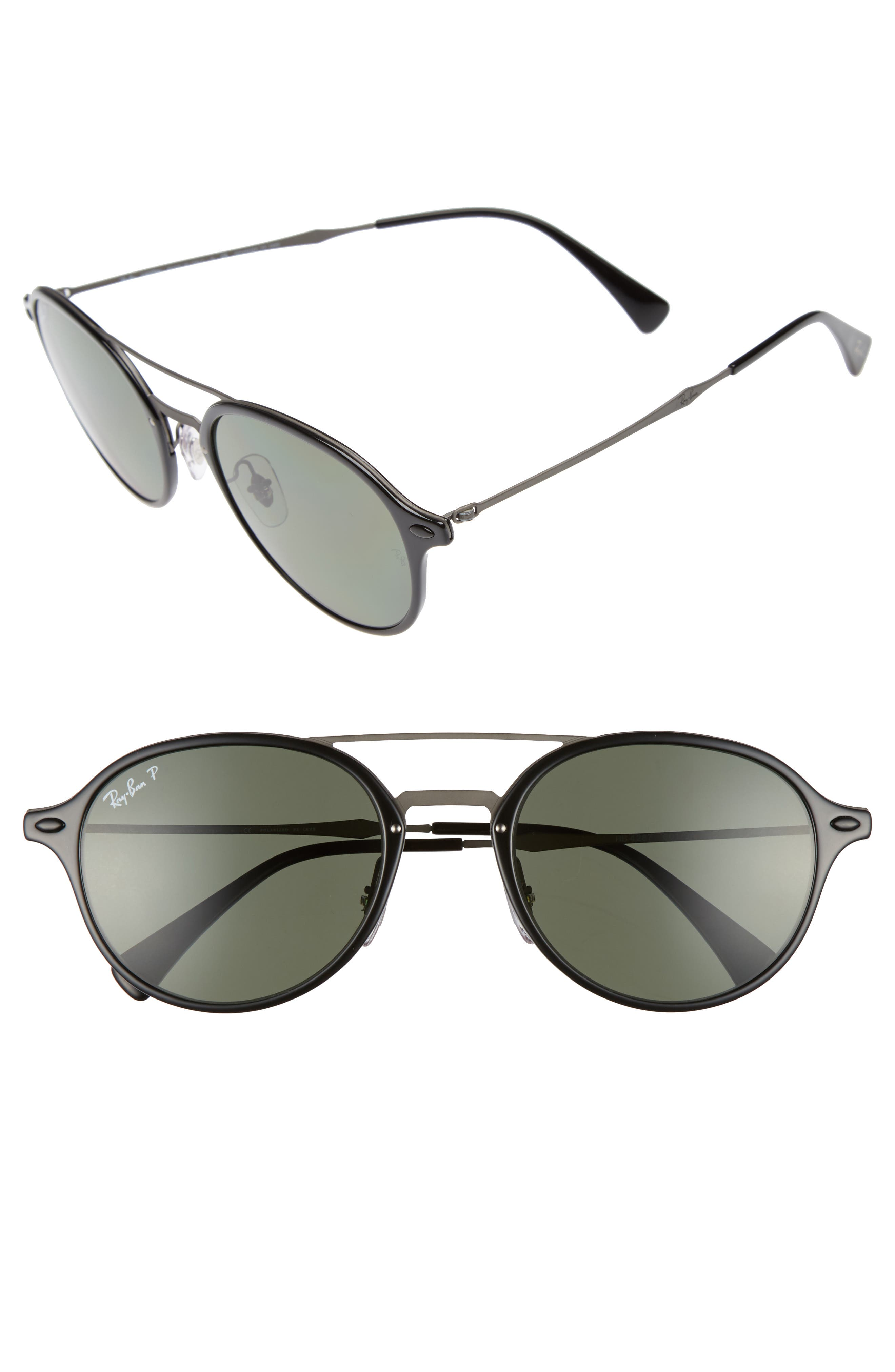 55mm Aviator Sunglasses,                         Main,                         color, 001
