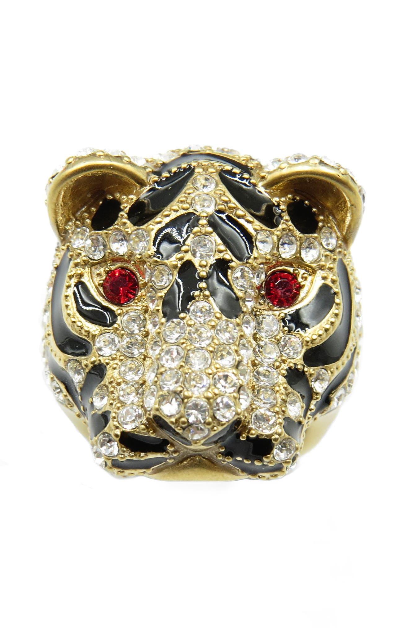 Tiger Head Ring,                             Alternate thumbnail 3, color,                             710