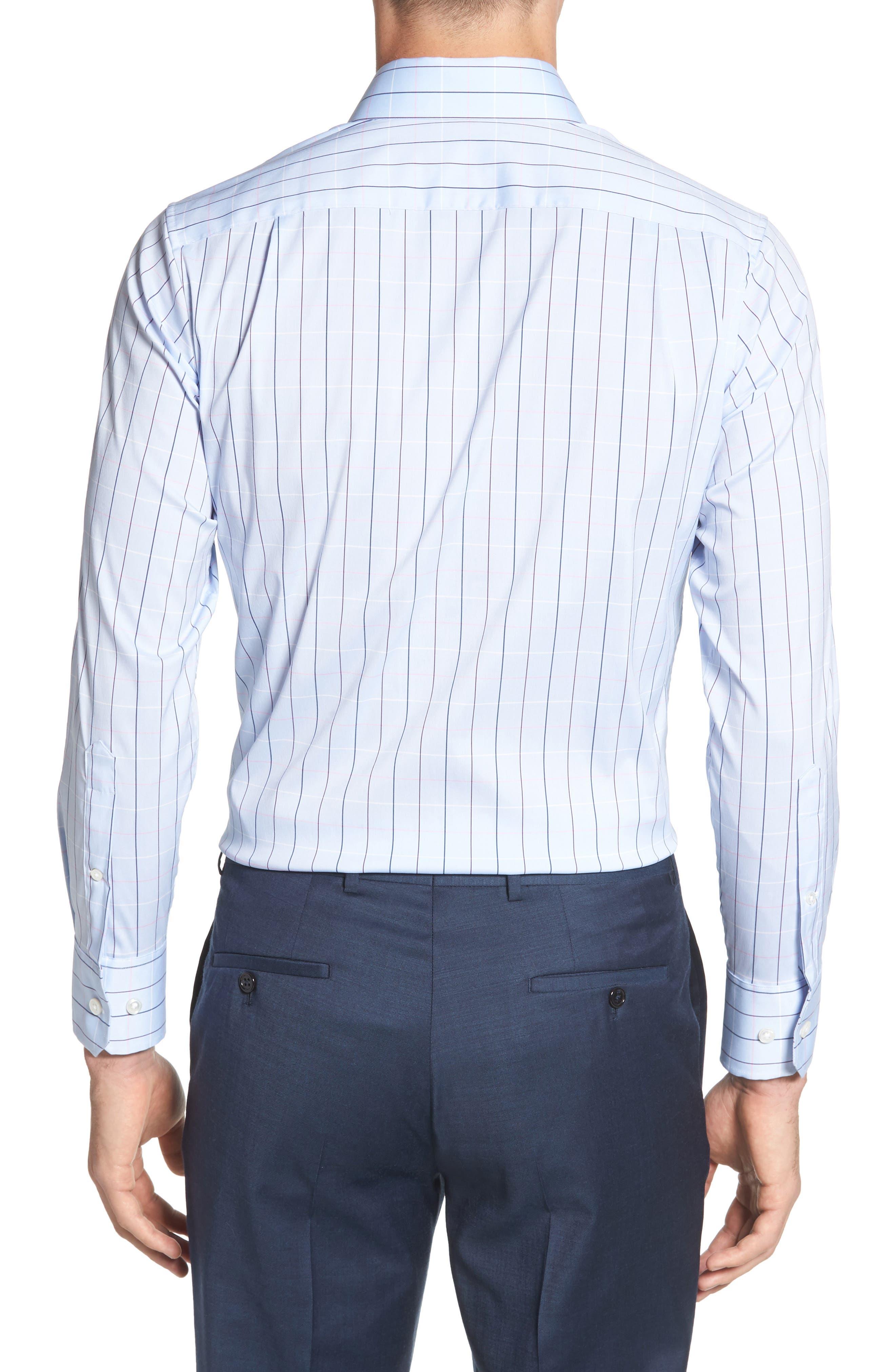 Jetsetter Slim Fit Stretch Check Dress Shirt,                             Alternate thumbnail 3, color,                             400