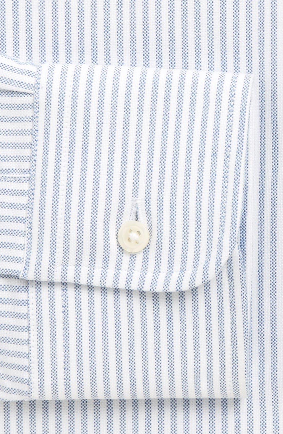 'Cambridge Oxford' Regular Fit Stripe Dress Shirt,                             Alternate thumbnail 2, color,                             BLUE