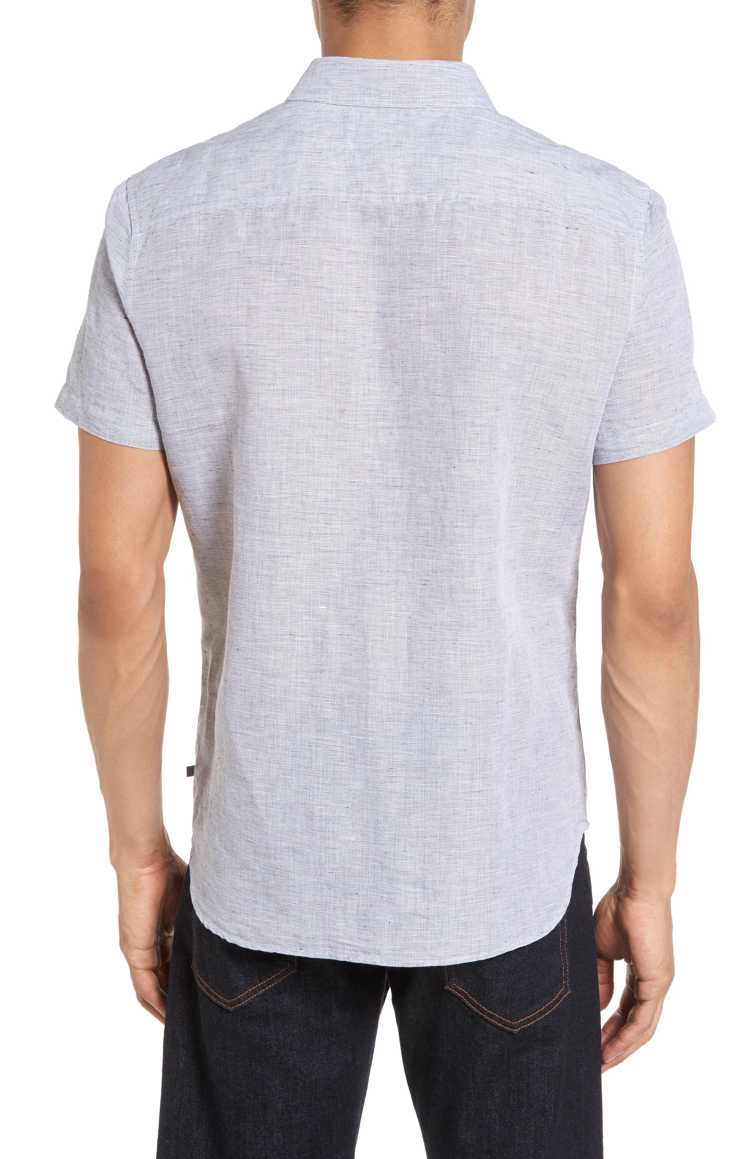 Nash Slim Fit Linen & Cotton Sport Shirt,                             Alternate thumbnail 2, color,                             020
