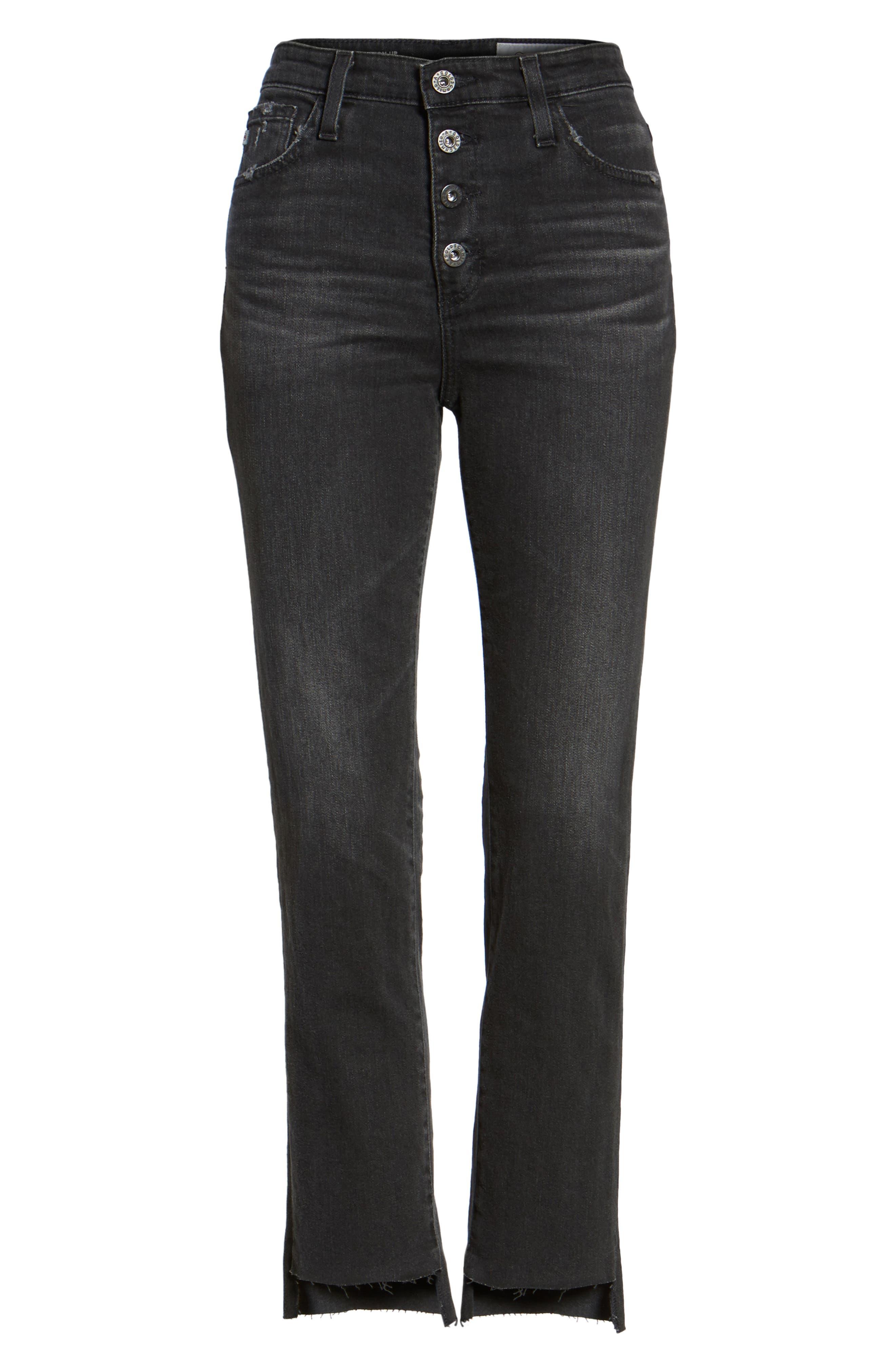 AG,                             Isabelle High Waist Step Hem Jeans,                             Alternate thumbnail 6, color,                             419