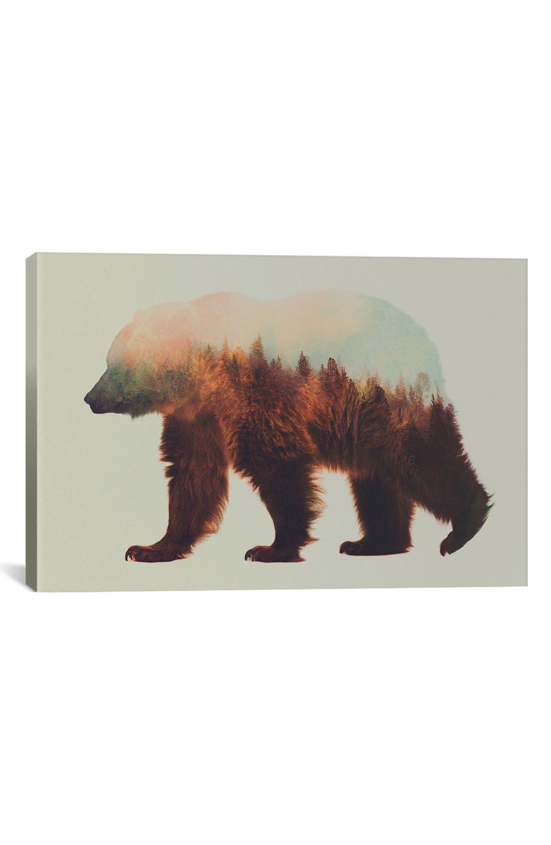 'Bjorn' Giclée Print Canvas Art,                         Main,                         color, BROWN