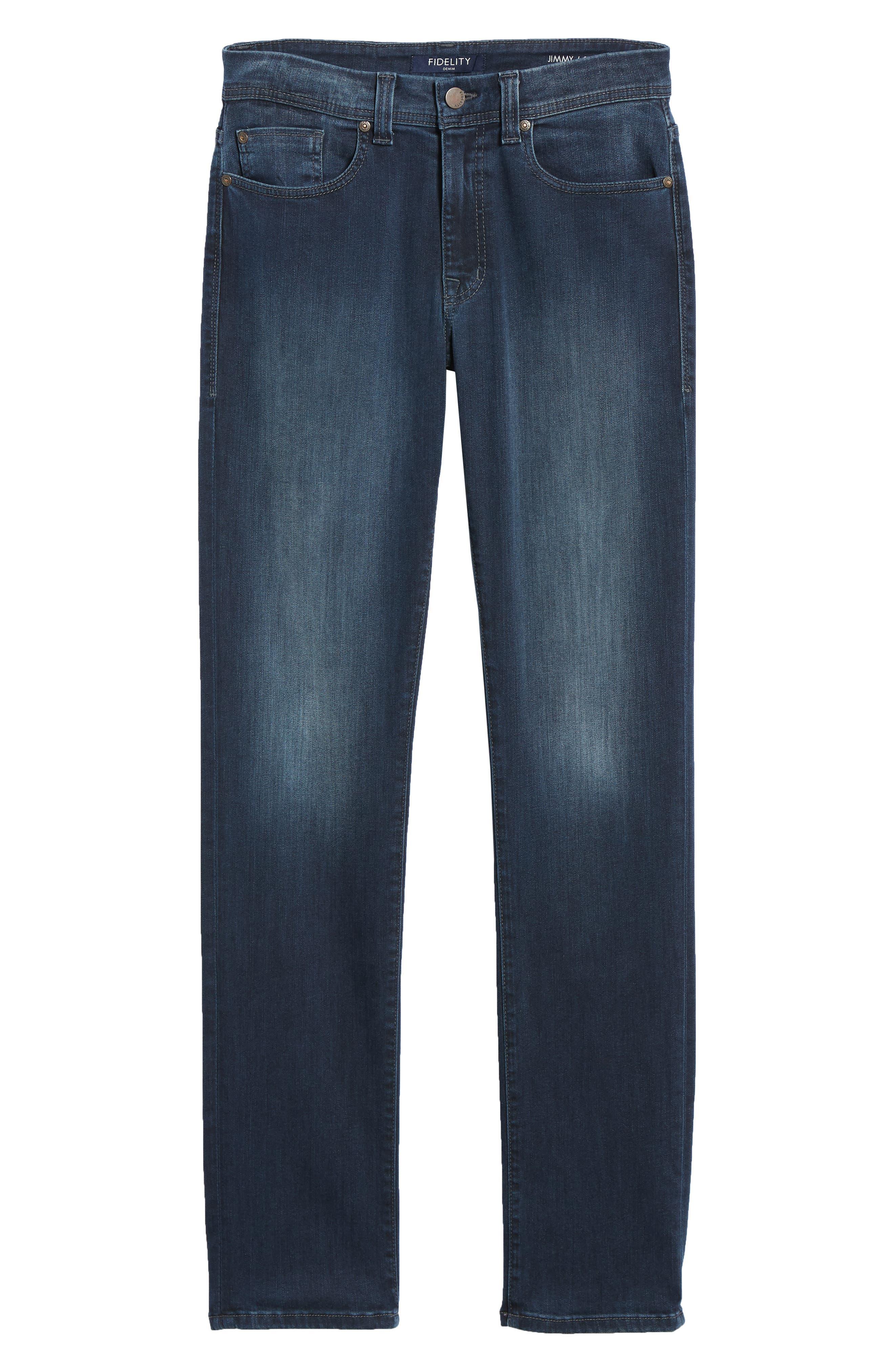 Fidelity Slim Straight Leg Jeans,                             Alternate thumbnail 6, color,                             BEL AIR BLUE