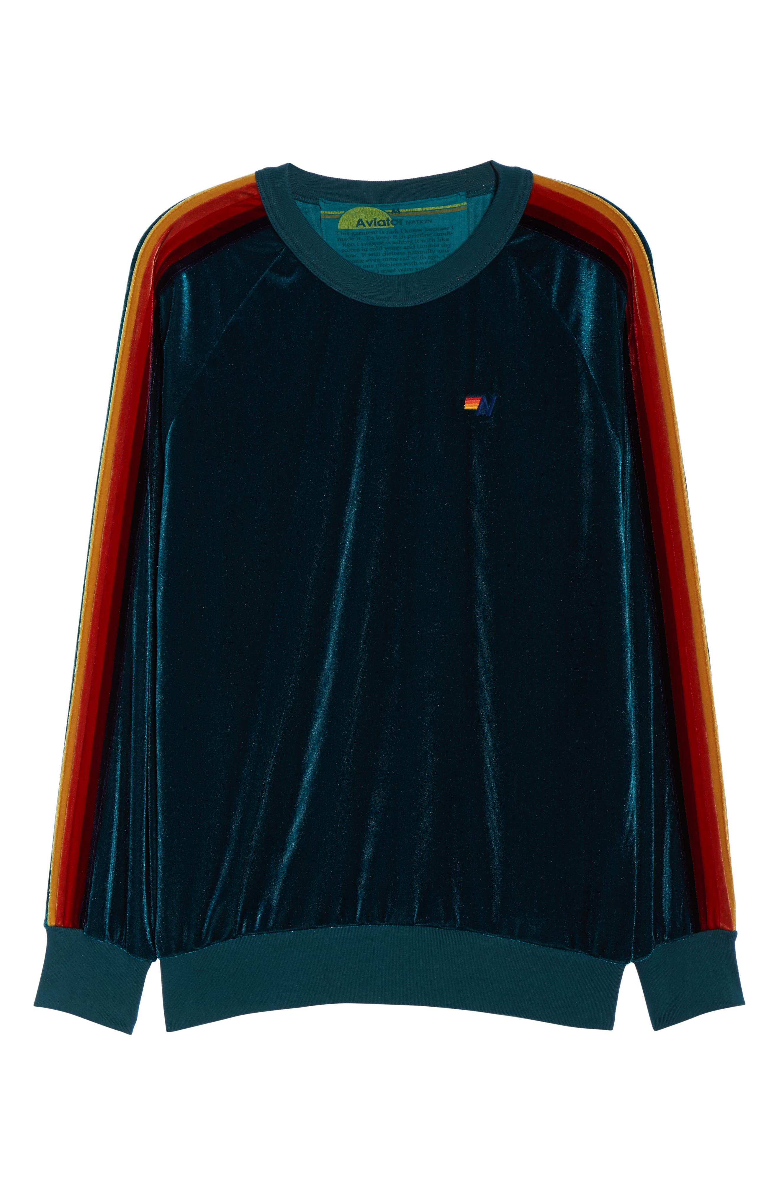 Velvet Crewneck Sweatshirt,                             Alternate thumbnail 7, color,                             300