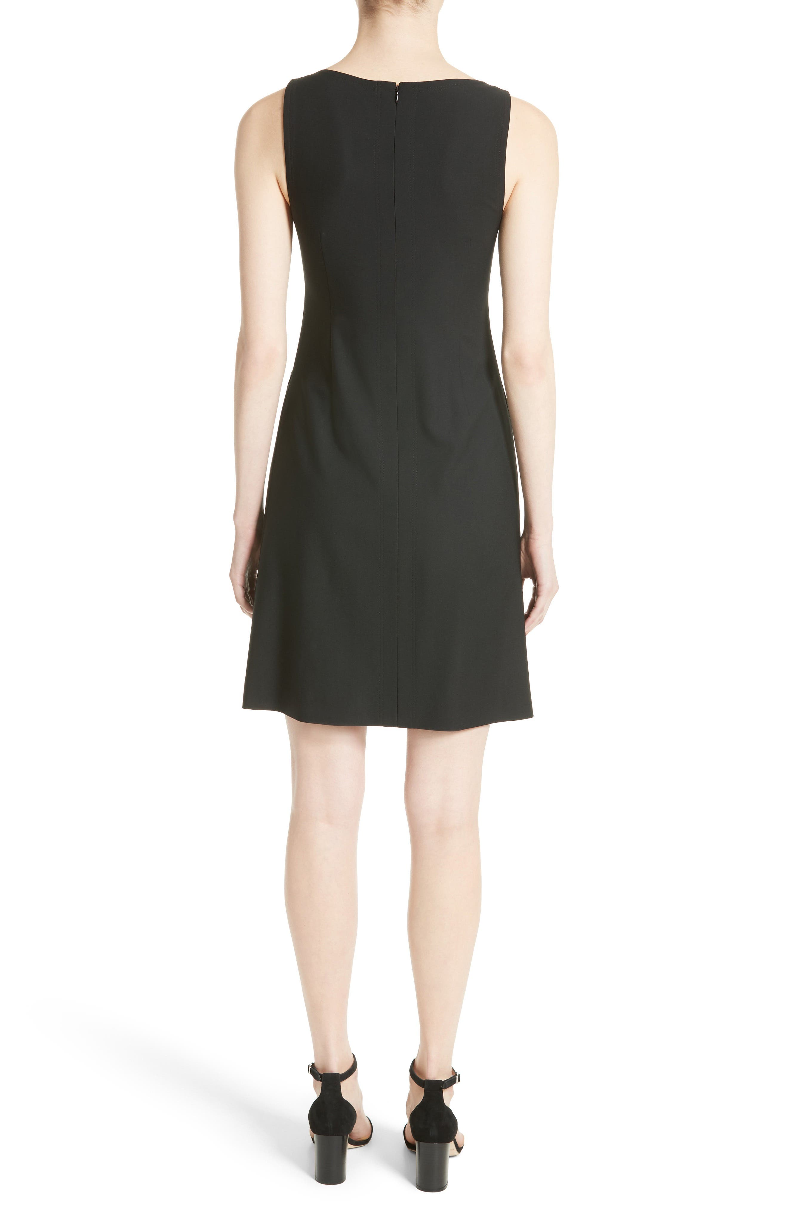 Risbana New Stretch Wool Dress,                             Alternate thumbnail 2, color,                             001
