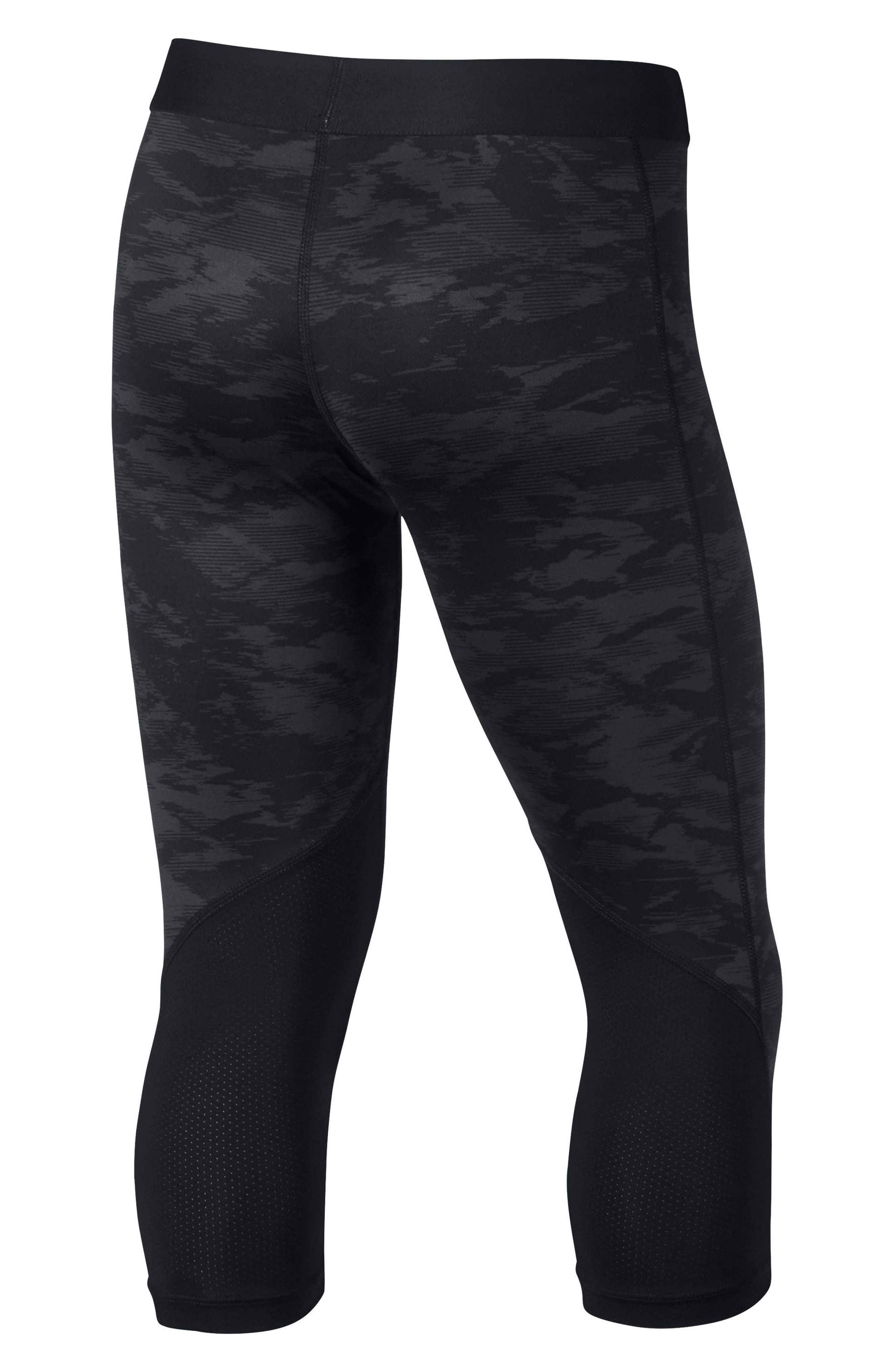 Pro Cool Crop Leggings,                             Alternate thumbnail 2, color,                             010