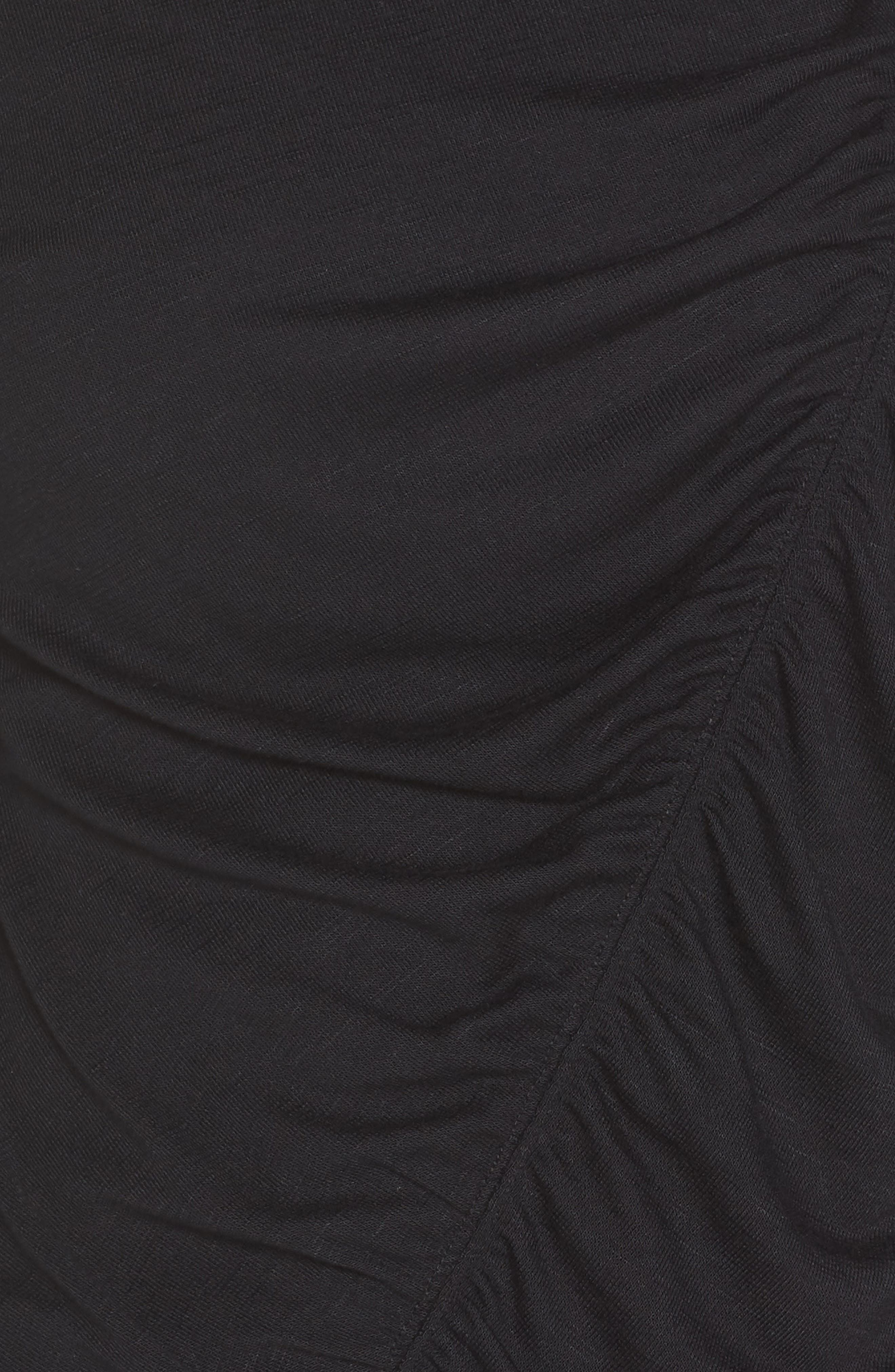 So Graceful Ruched Tee,                             Alternate thumbnail 6, color,                             BLACK