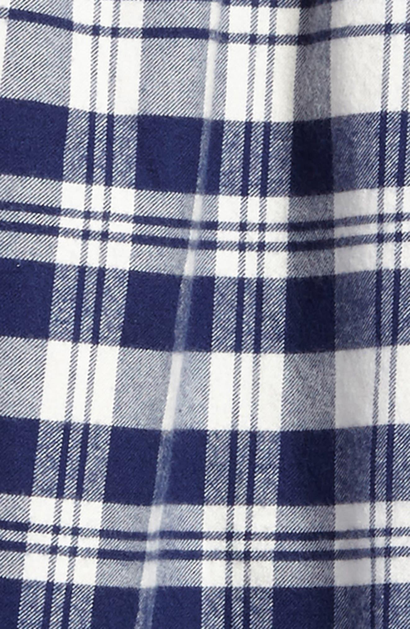 Soirée Plaid Flannel Dress,                             Alternate thumbnail 3, color,