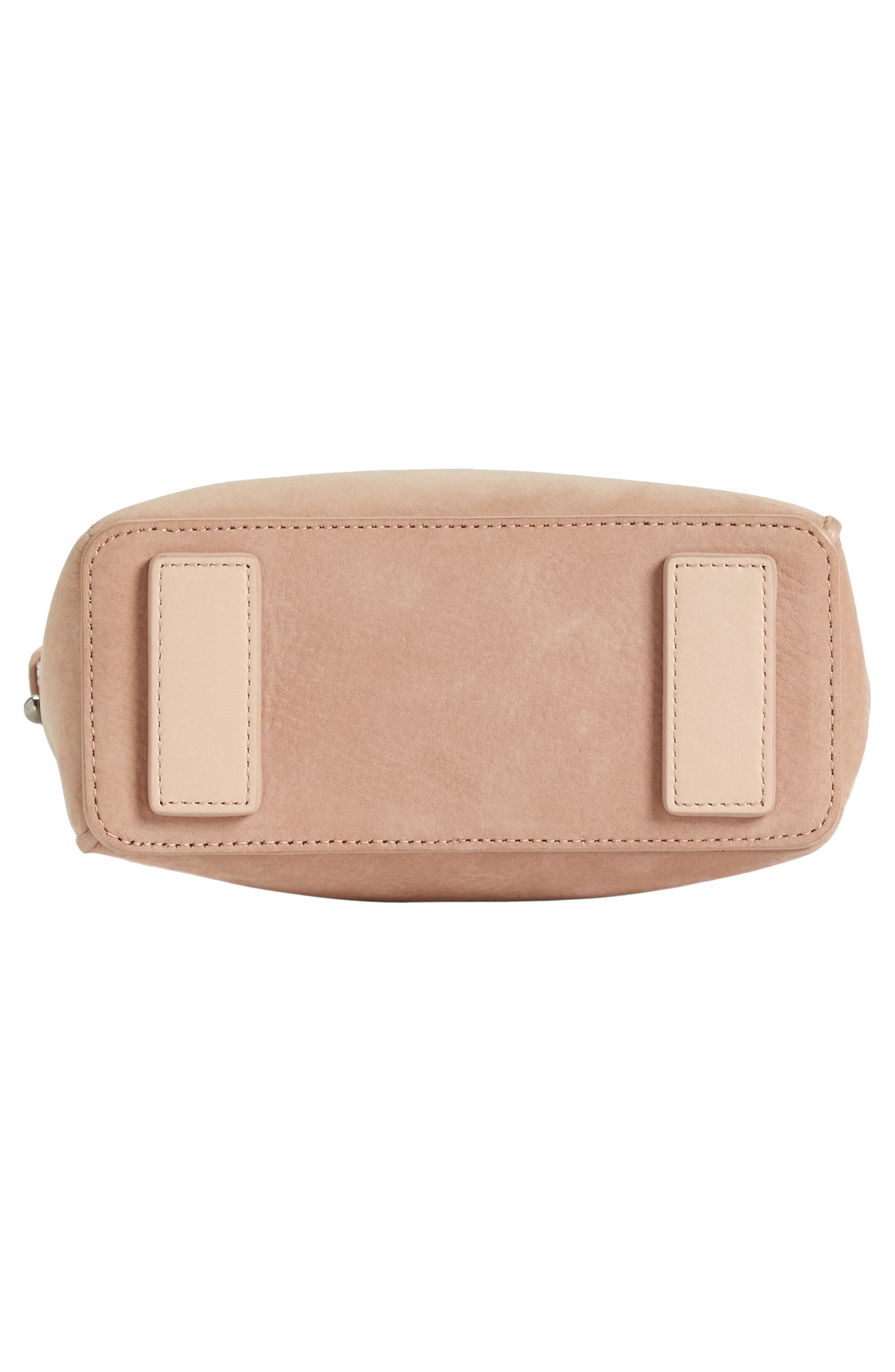 Mini Mast Leather North/South Tote,                             Alternate thumbnail 7, color,                             NUDE PINK