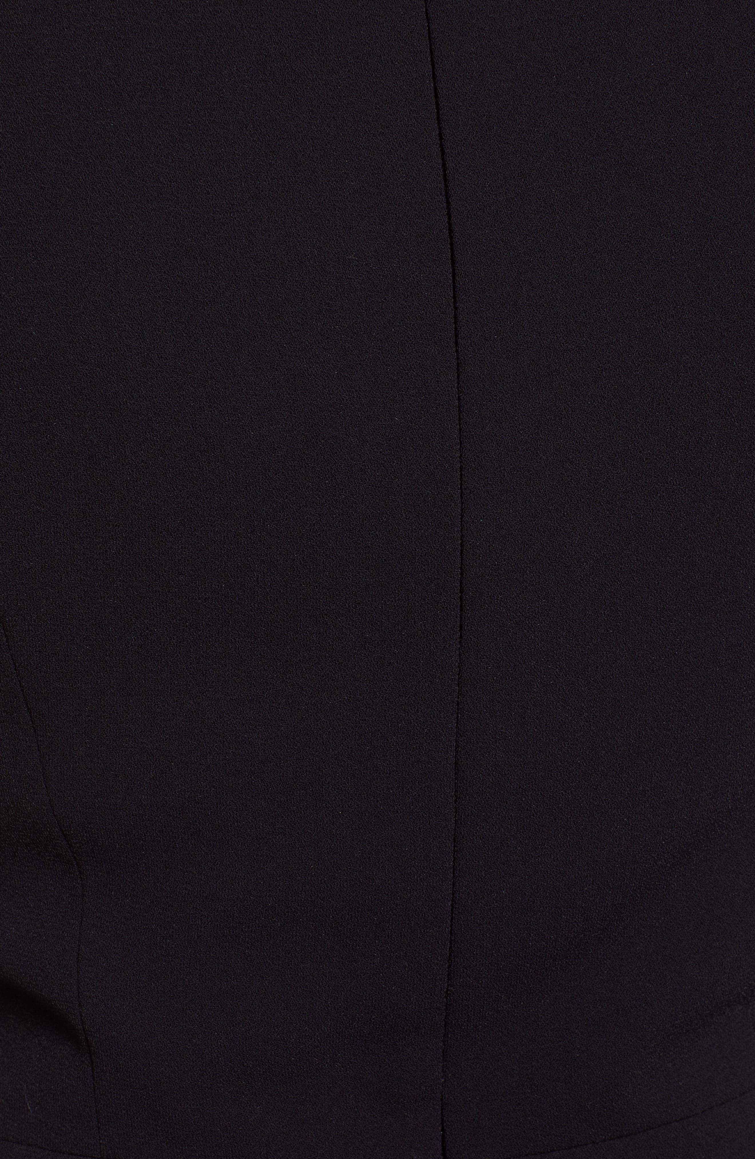 Velvet Bow Detail Jumpsuit,                             Alternate thumbnail 6, color,                             RICH BLACK